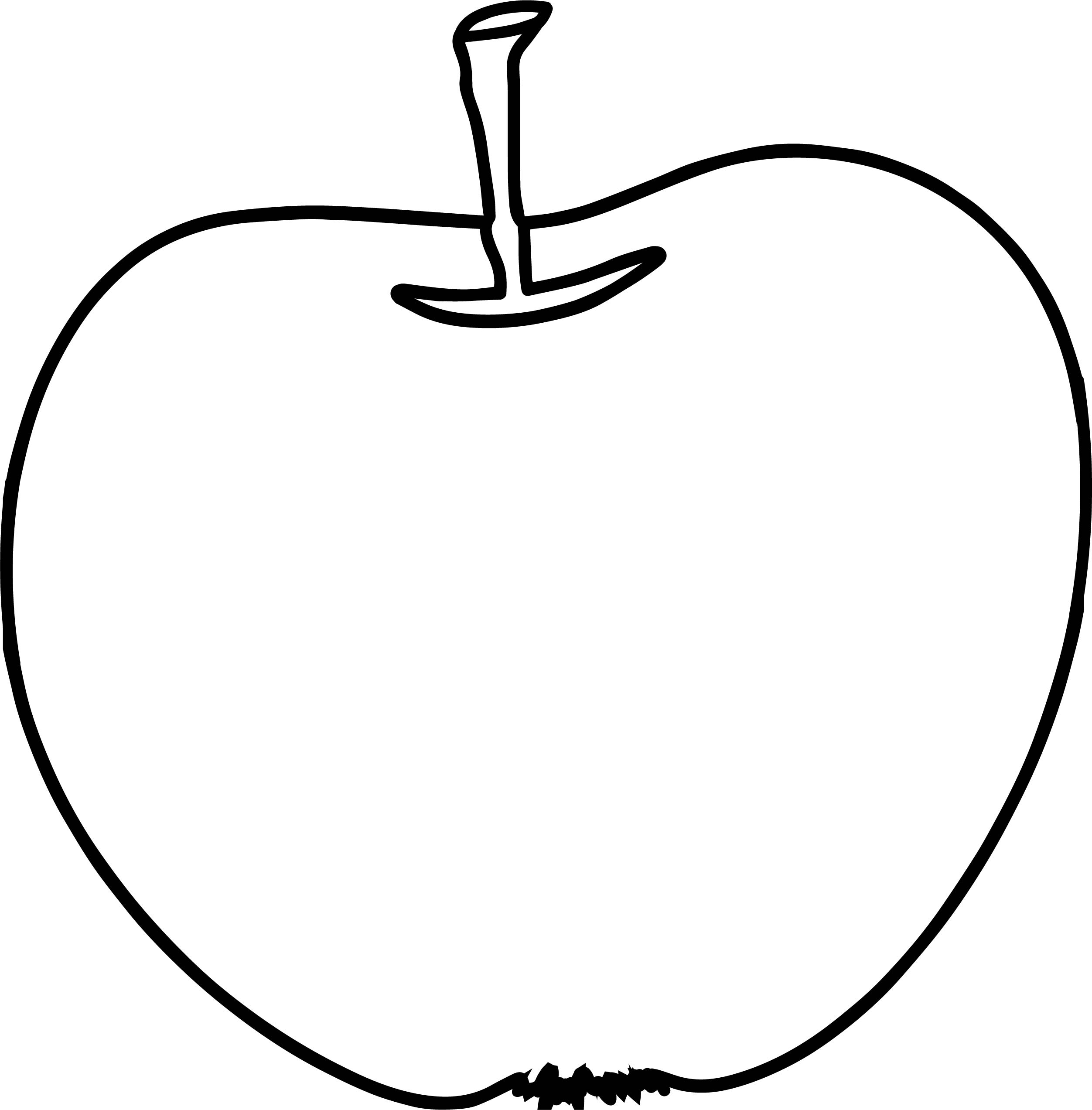Snack Free Illustration Apple Coloring Page