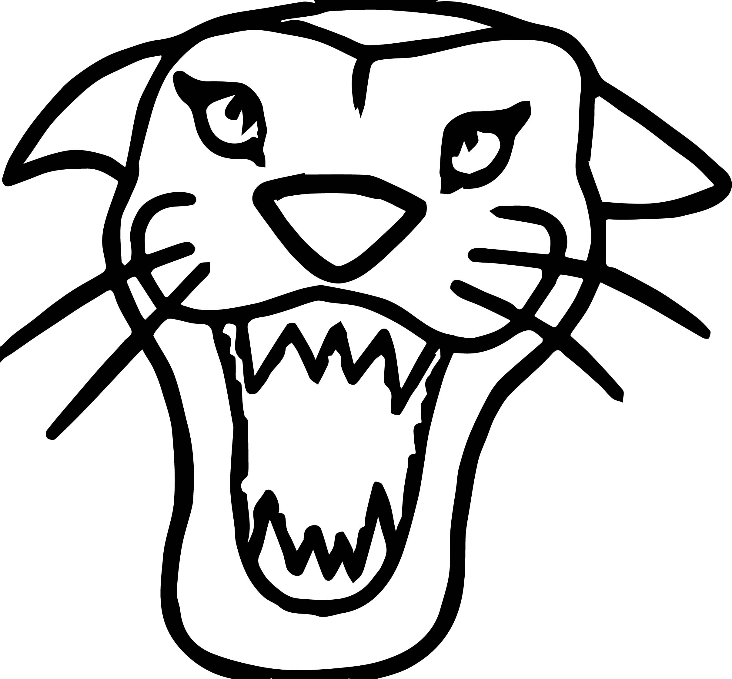 Tiger Face Coloring Pages