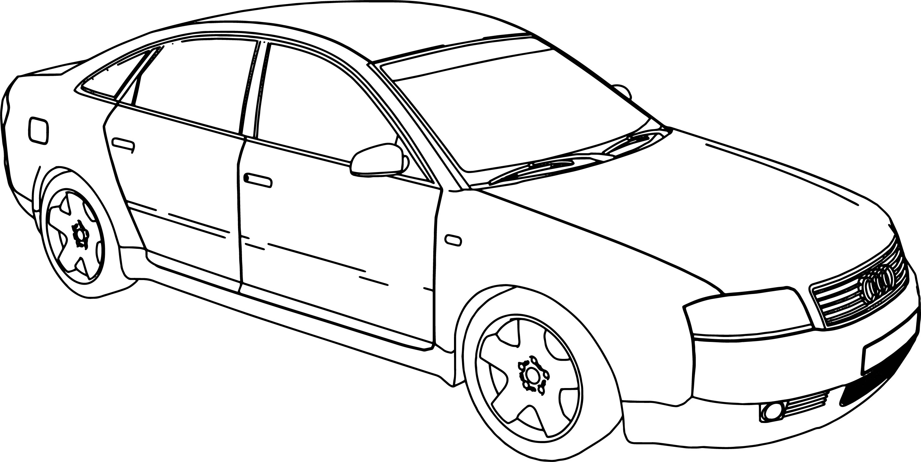 Audi A6 Coloring Page