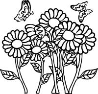 Butterfly Flower Coloring Page | Wecoloringpage.com