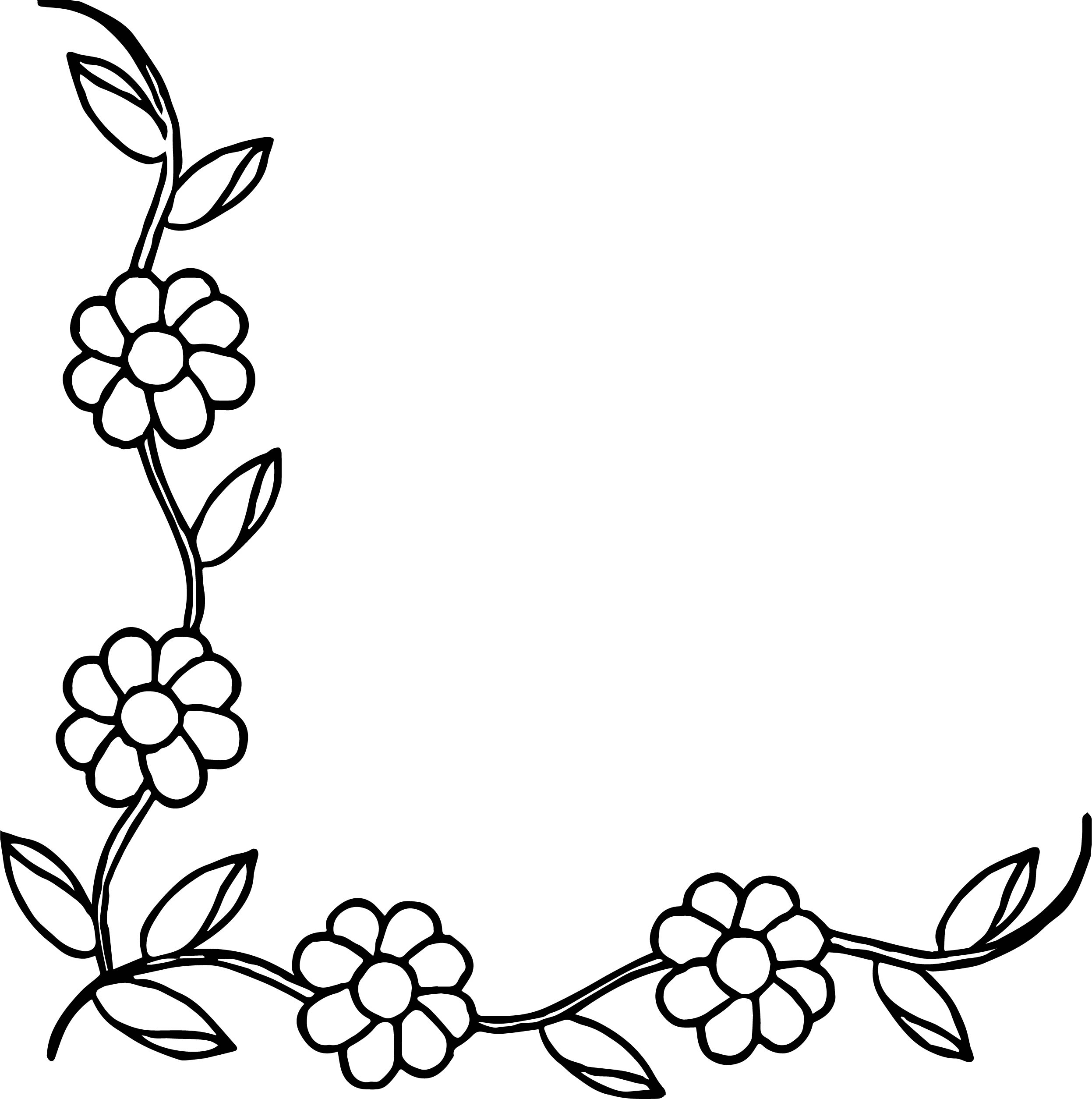 Printable Holly Leaf Border Clip Art
