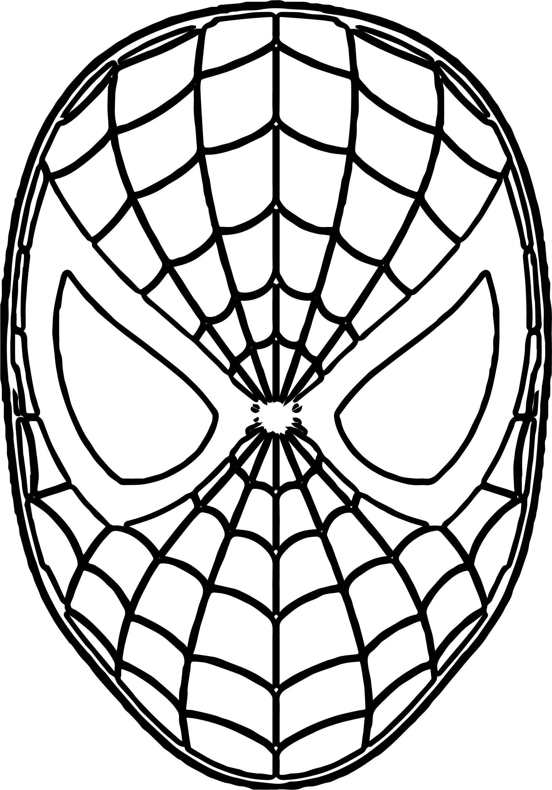 Spider Man Mask Pages Coloring Pages