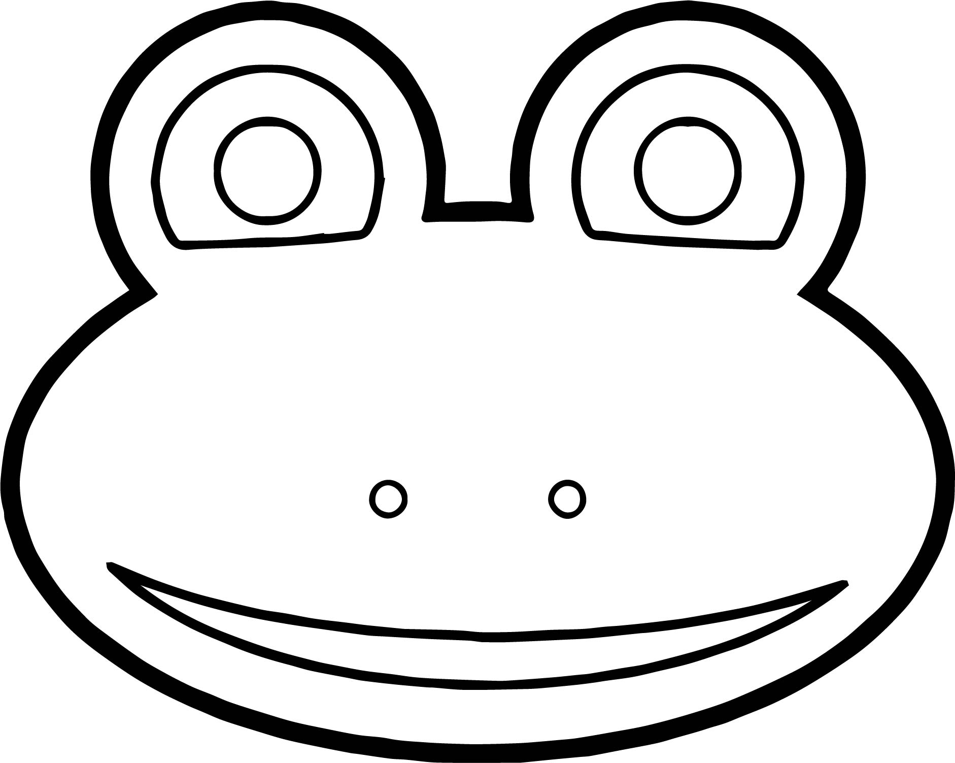 Frog Face Coloring Pages Printable Coloring Pages