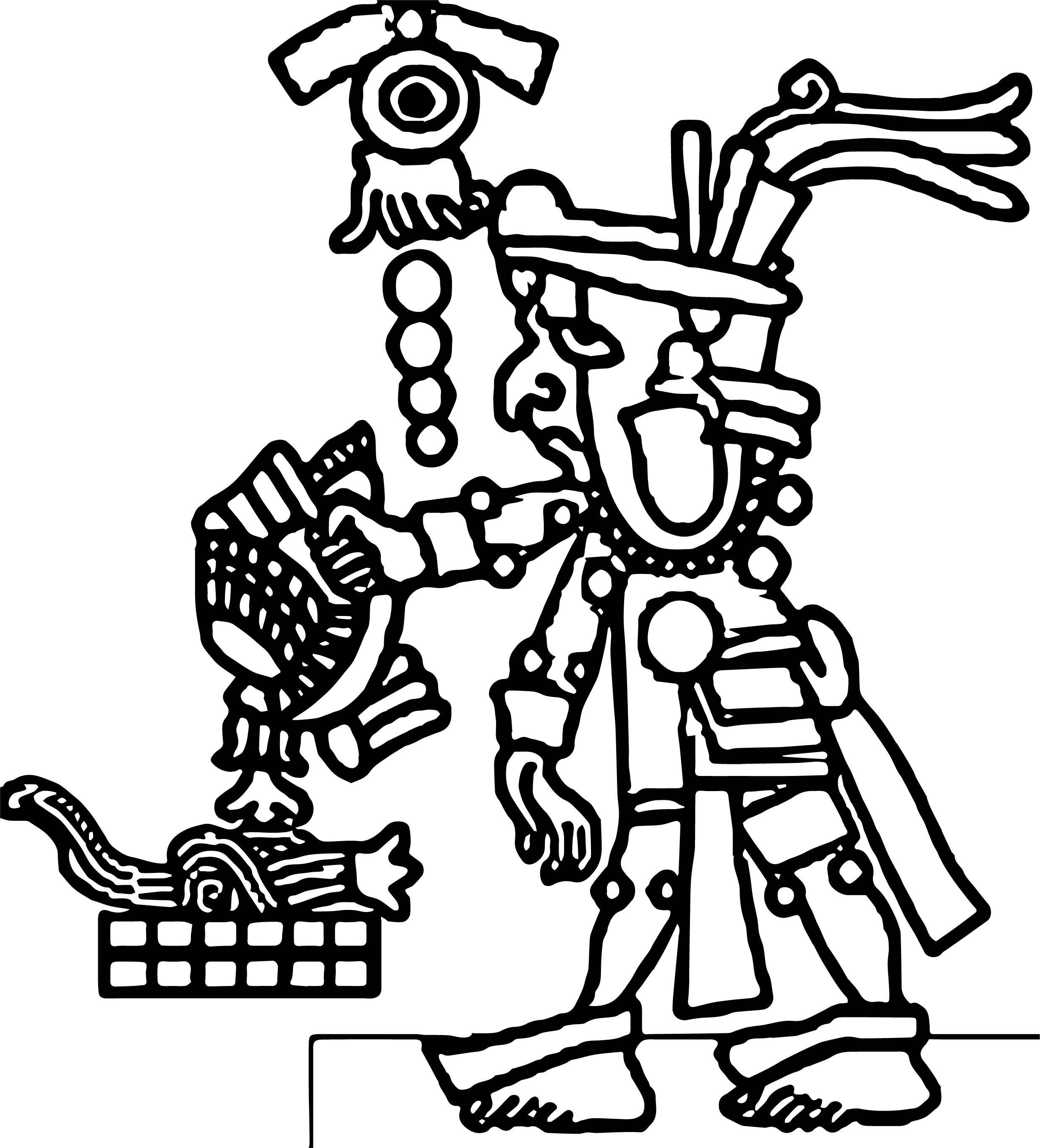 Aztec Pyramid Pages Coloring Pages