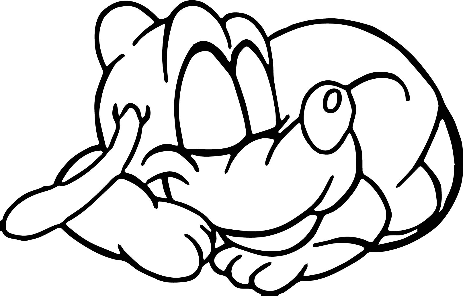 Sleeping Baby Coloring Pages Sketch Coloring Page