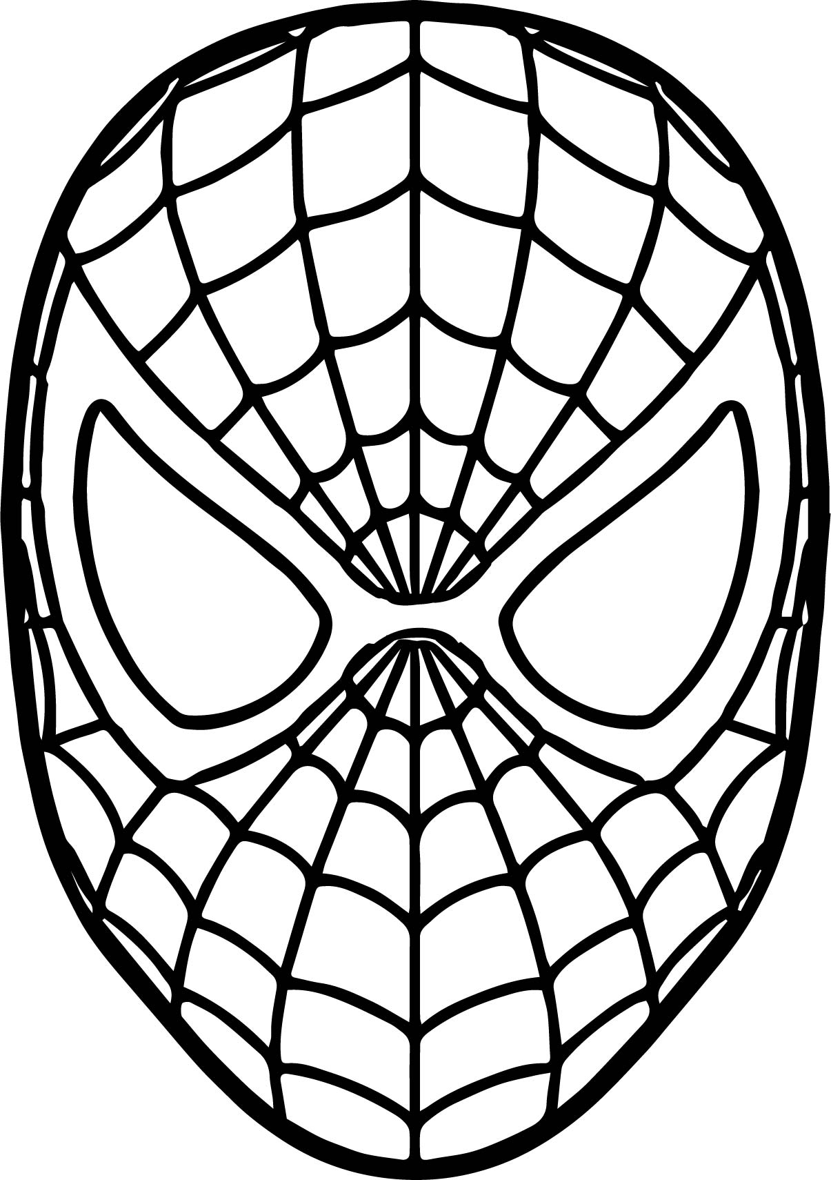 Spider Man Mask Coloring Page Wecoloringpage