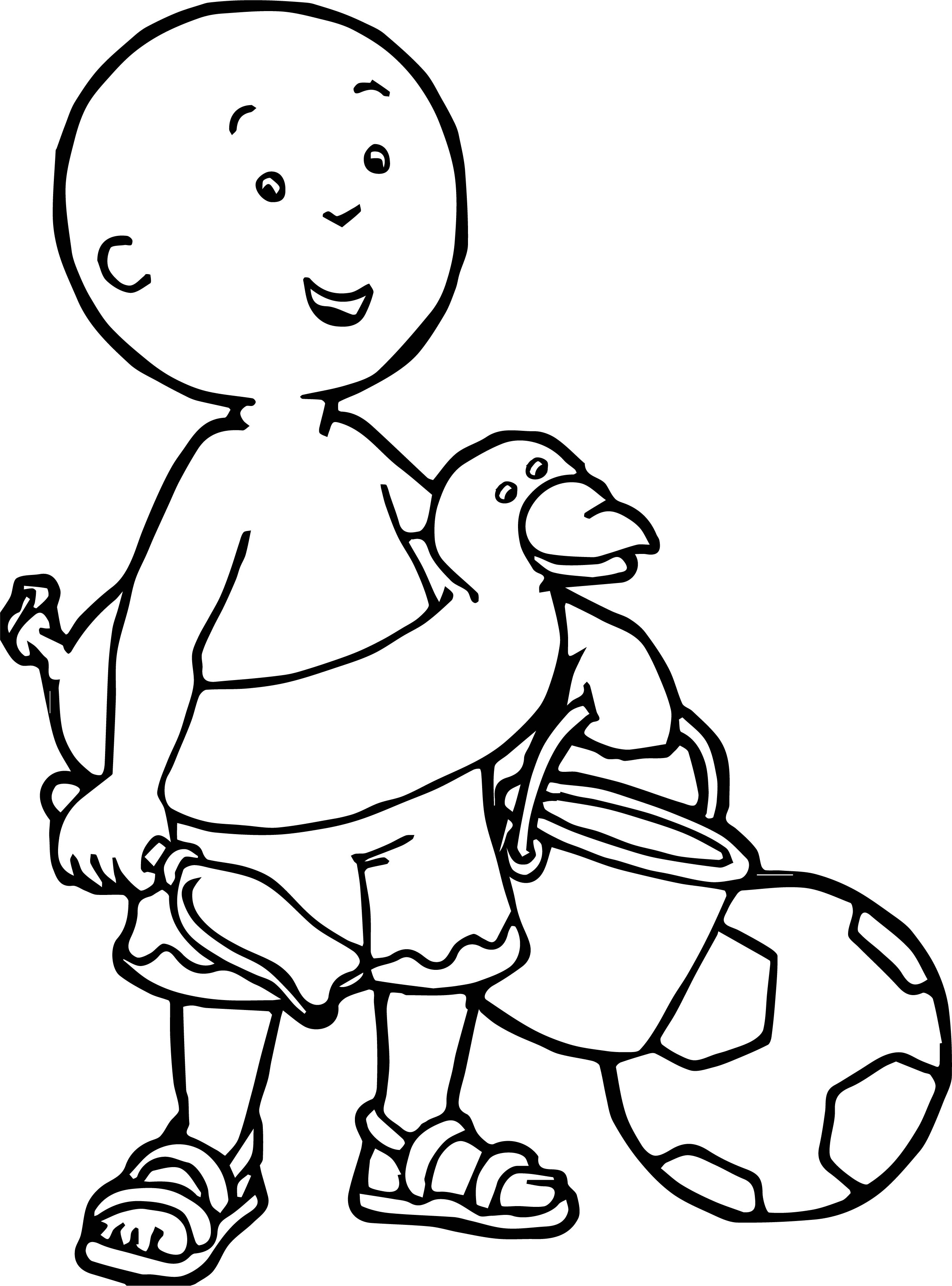 Caillou Coloring Beach Page