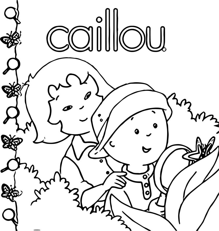 caillou tree caillou coloring page  wecoloringpage