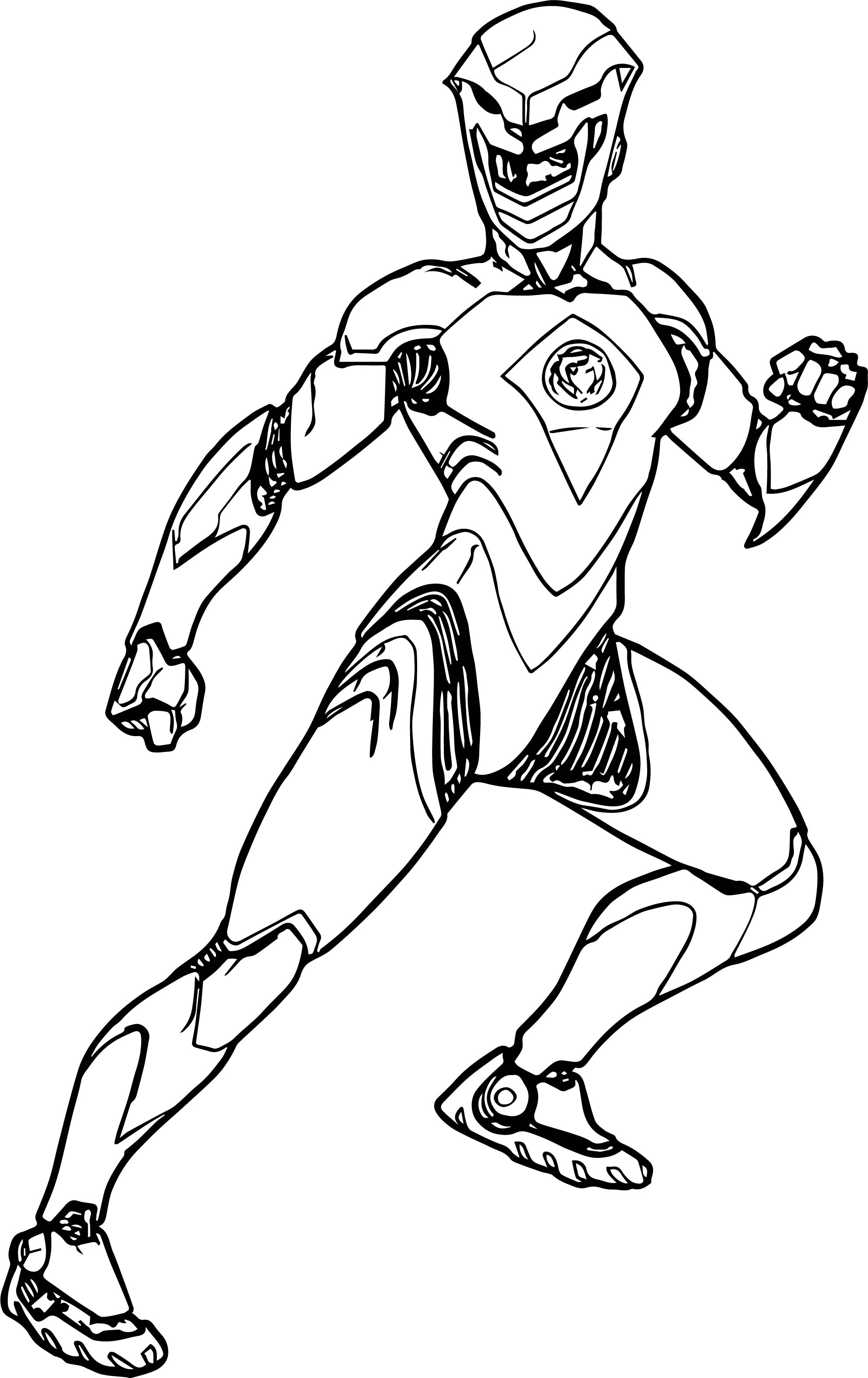 Kick Power Rangers Coloring Page