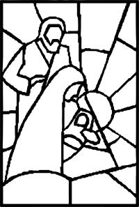 Nativity Stained Glass Coloring Page   Wecoloringpage.com