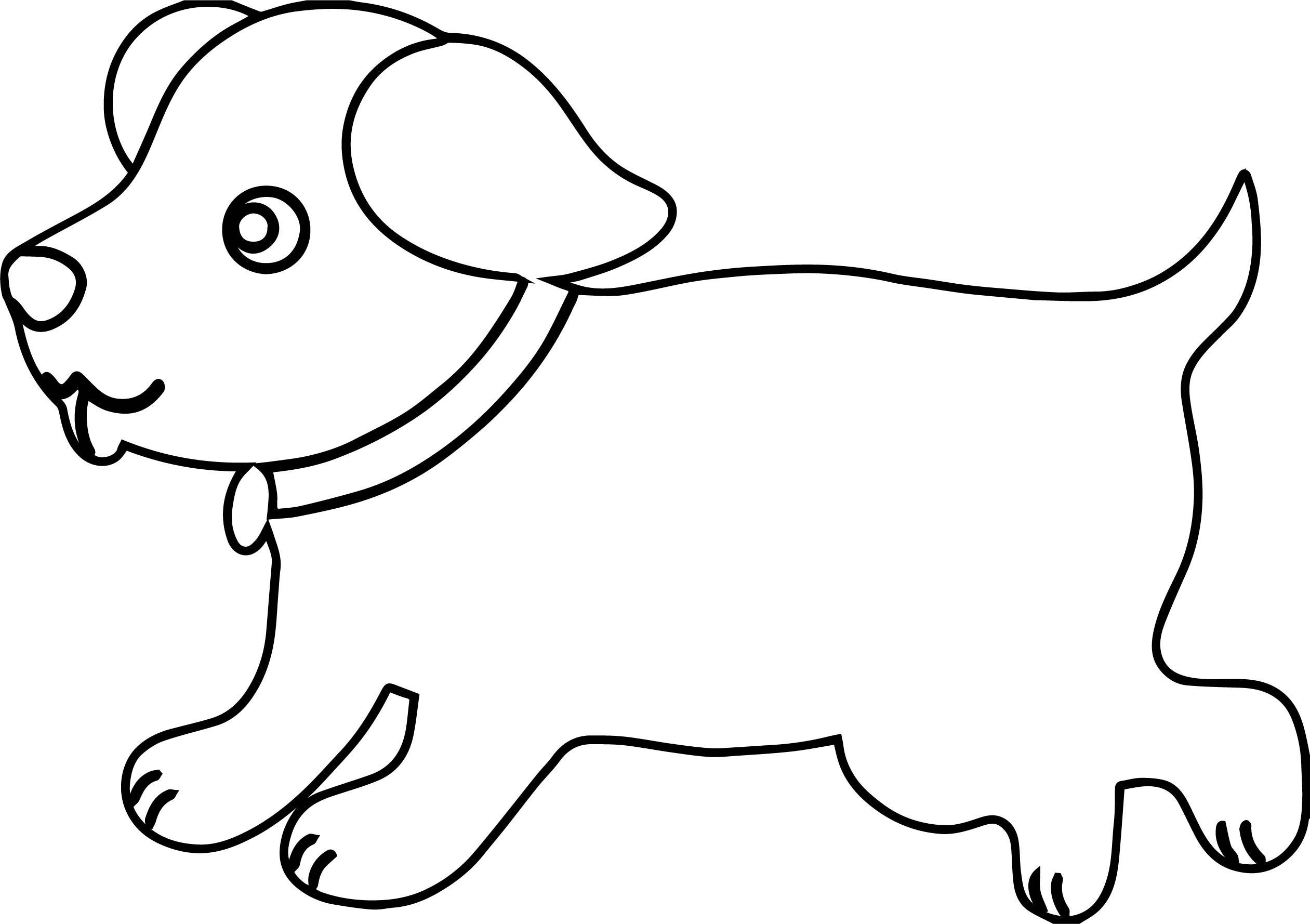 Puppy Outline Dog Puppy Coloring Page