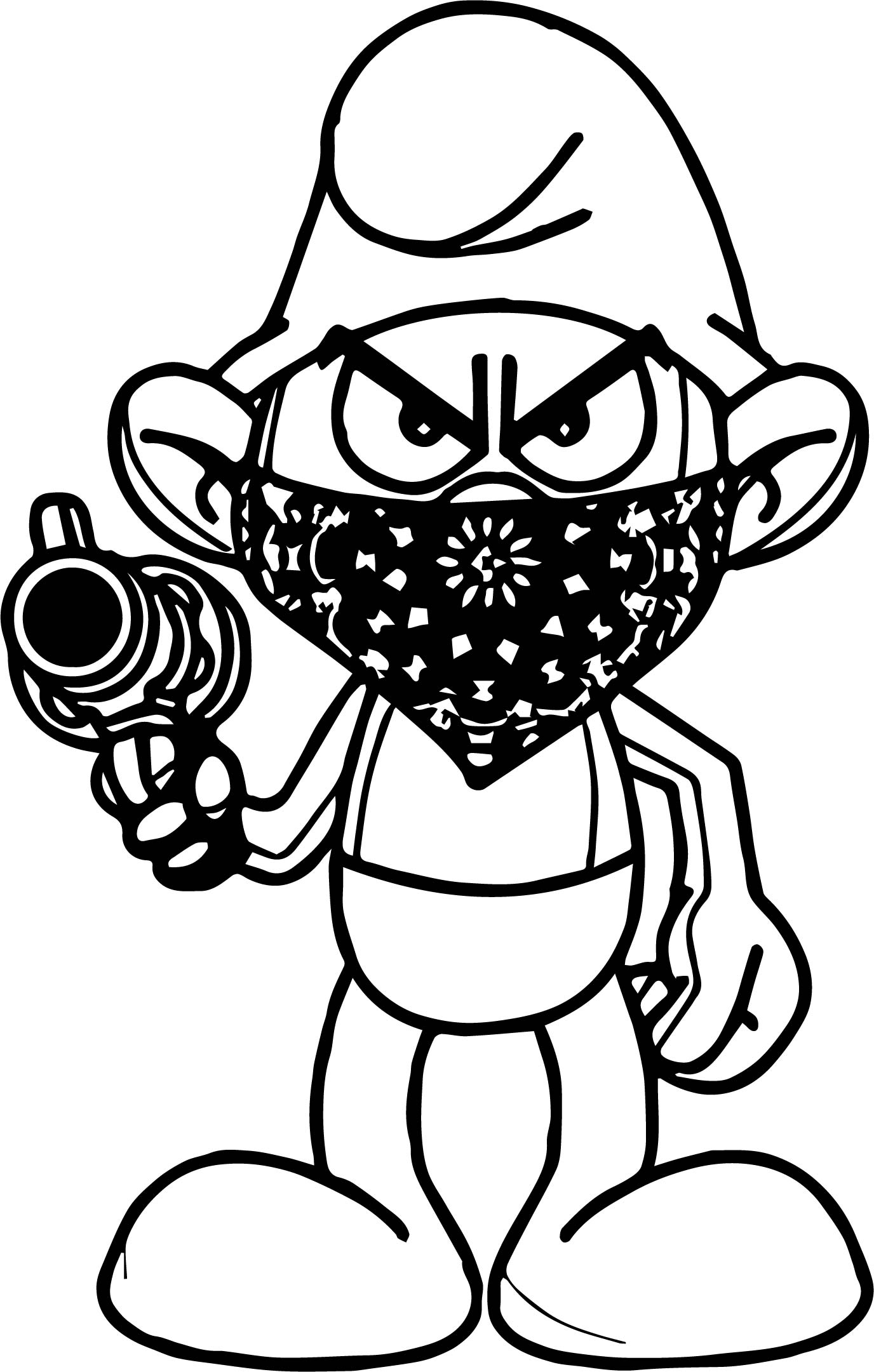 Temp Image Gangsta Smurf Coloring Page