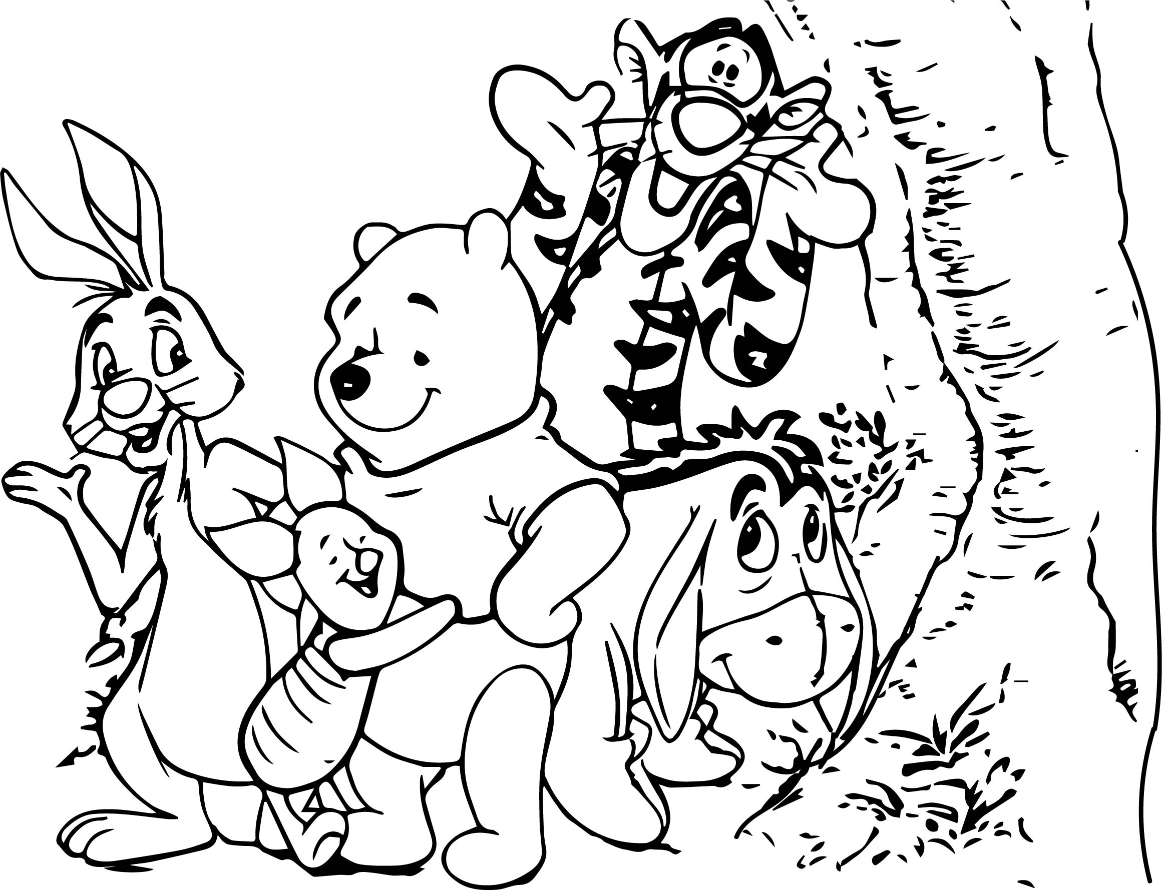 Baby Winnie Pooh And Friends Characters Free Coloring