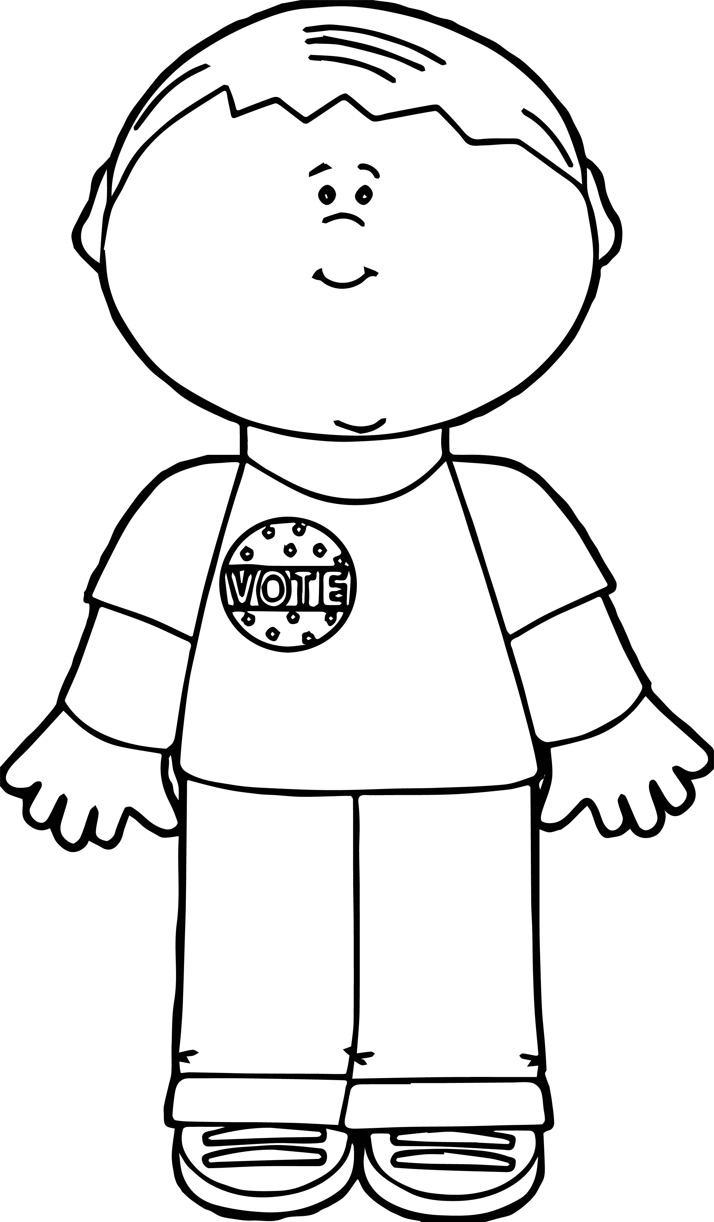 Vote Button Coloring Sheet Coloring Pages