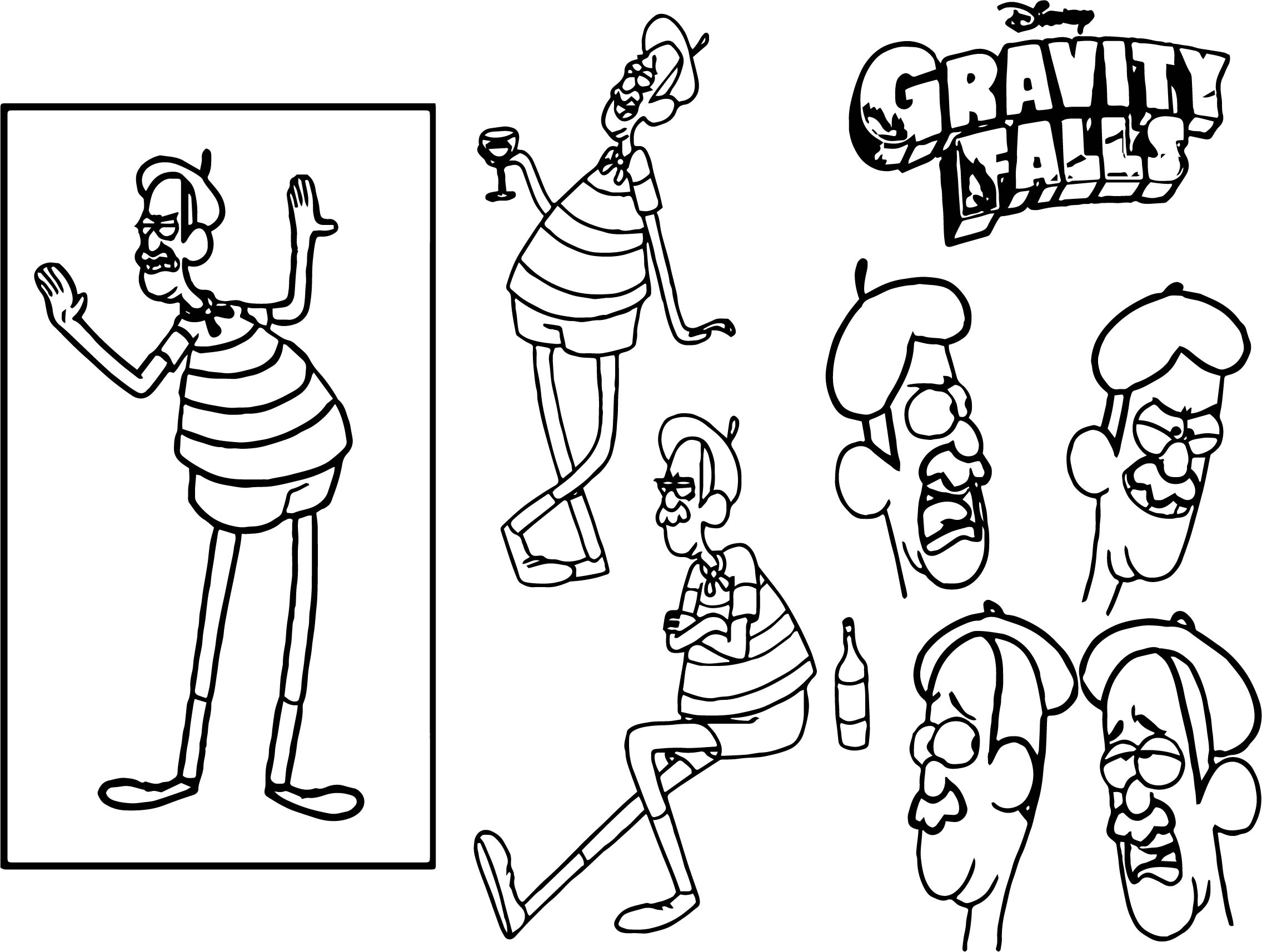 Character Design Assignment One Gravity Falls Coloring