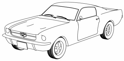 Ford Mustang Coloring Page   Wecoloringpage.com