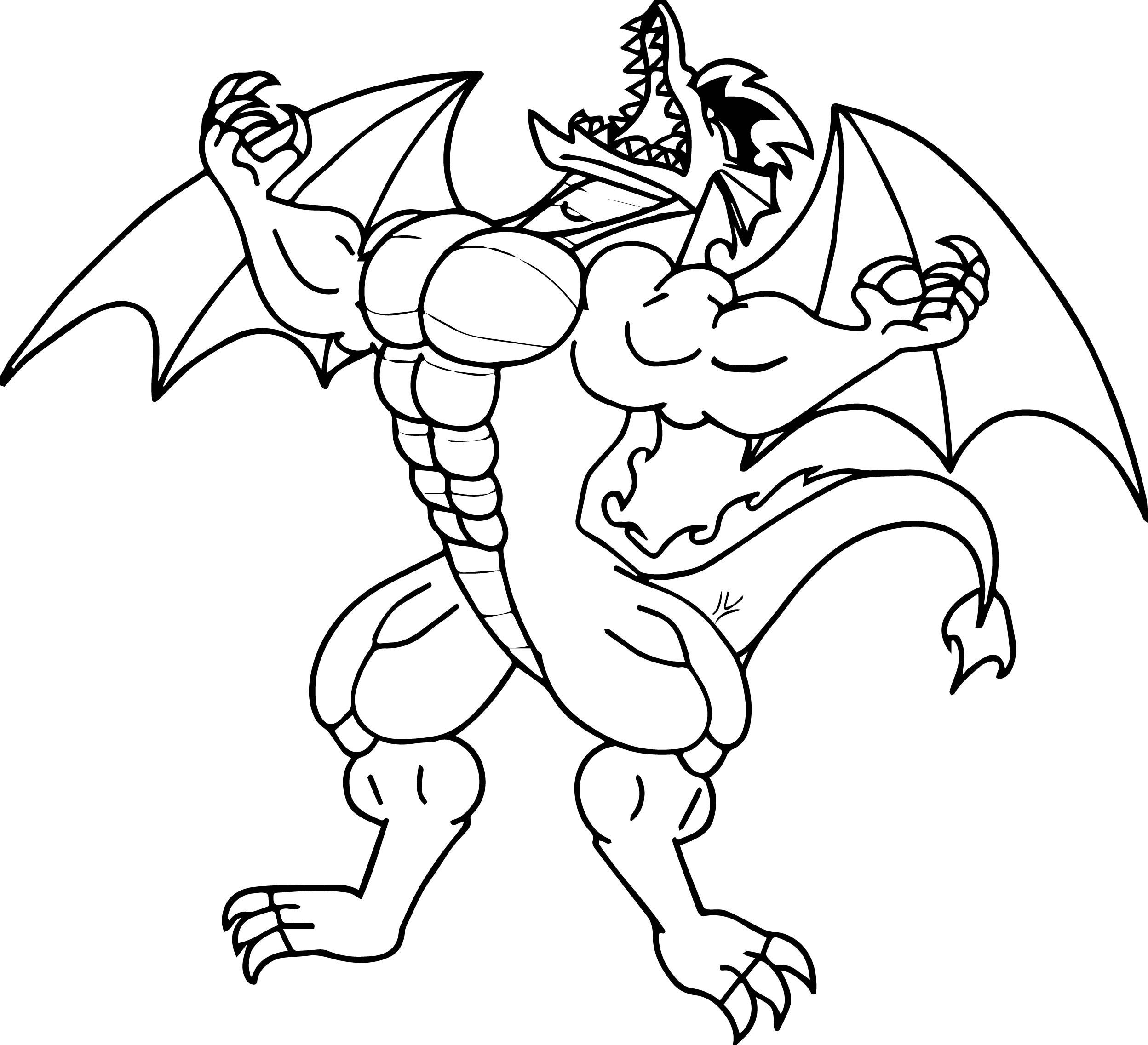 Jake Long Muscle Dragon Coloring Page Wecoloringpage