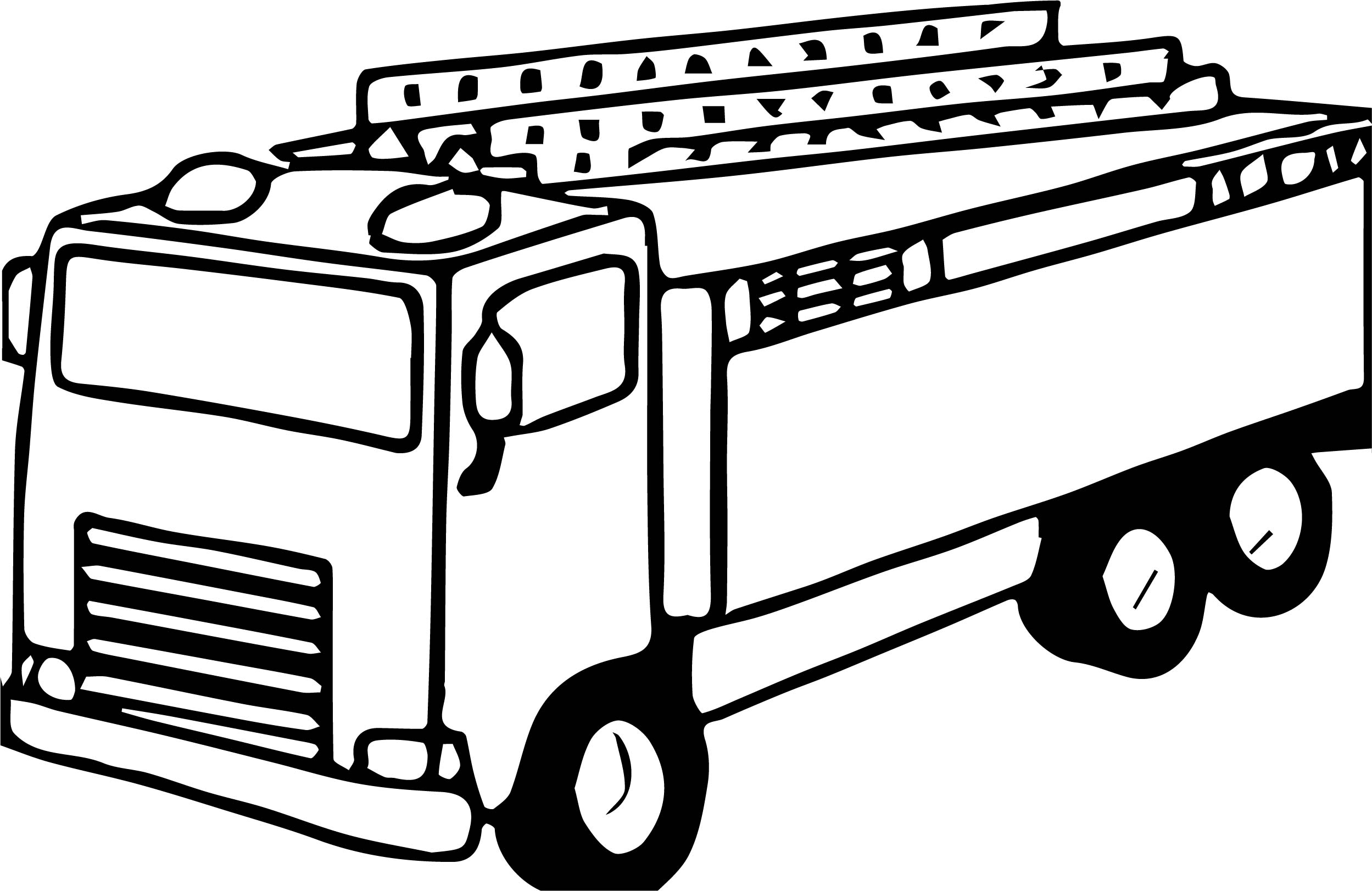 Old Fire Truck Coloring Page