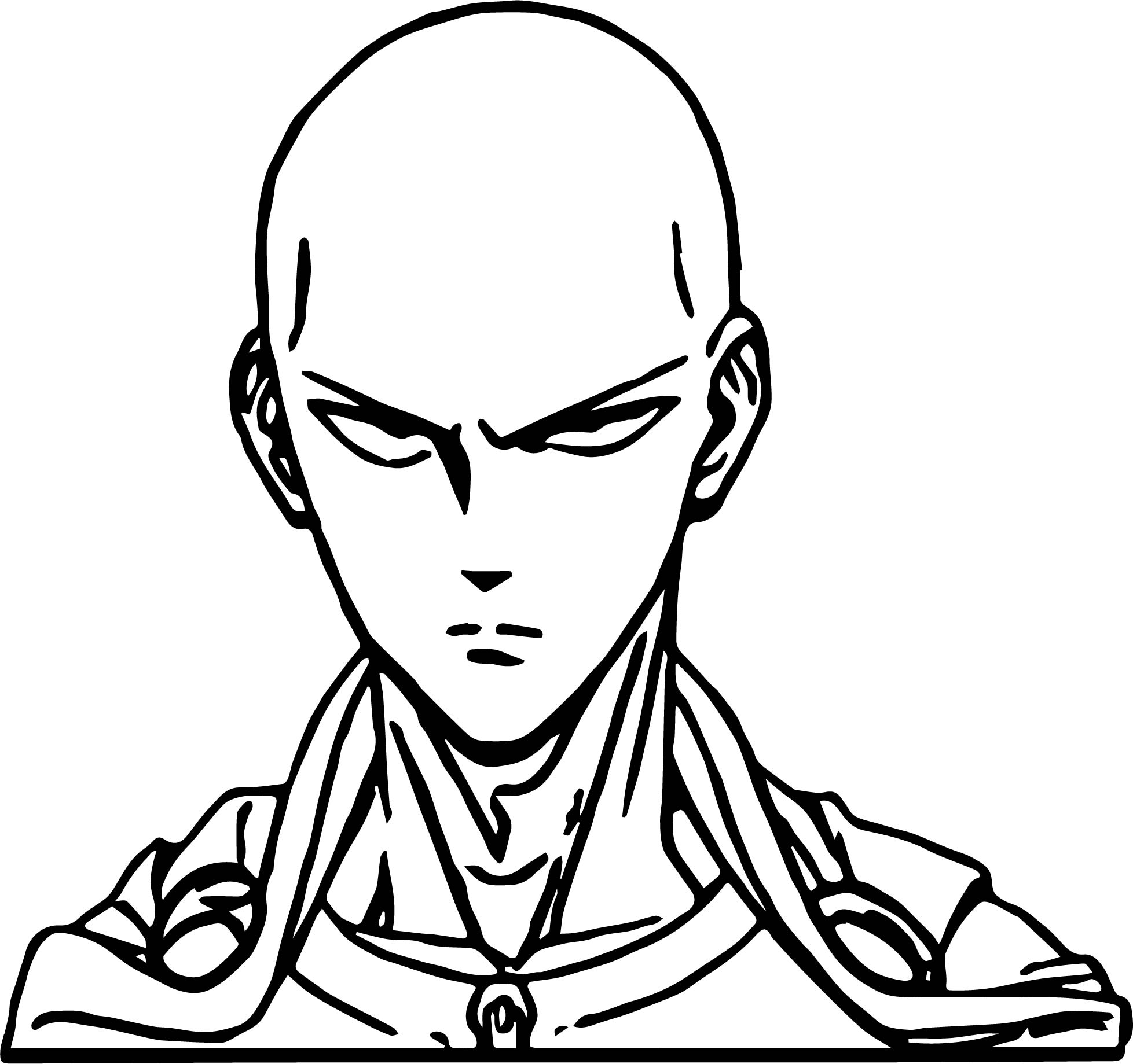 One Punch Man Anime Character Design Saitama Coloring Page