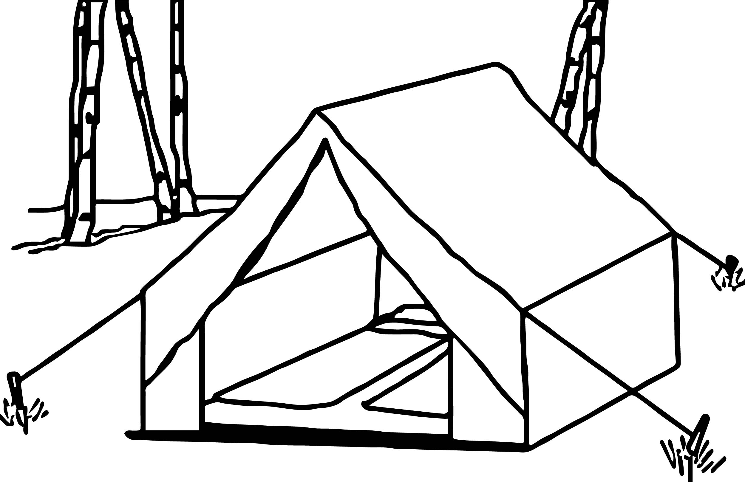 Tent Art Camping Coloring Pages