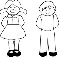 Boy Girl Coloring Page | Wecoloringpage.com