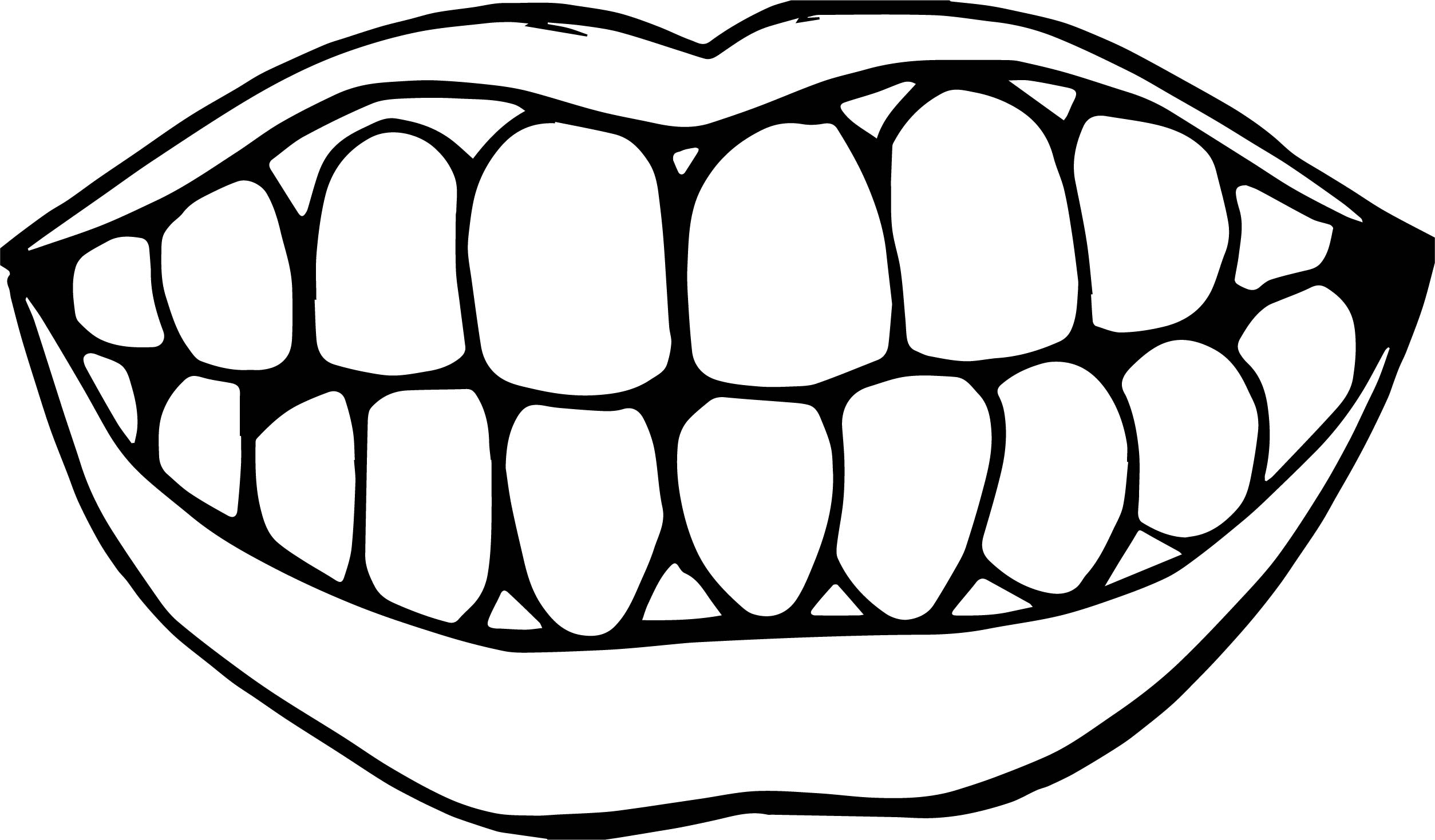 Dental My Teeth Coloring Page