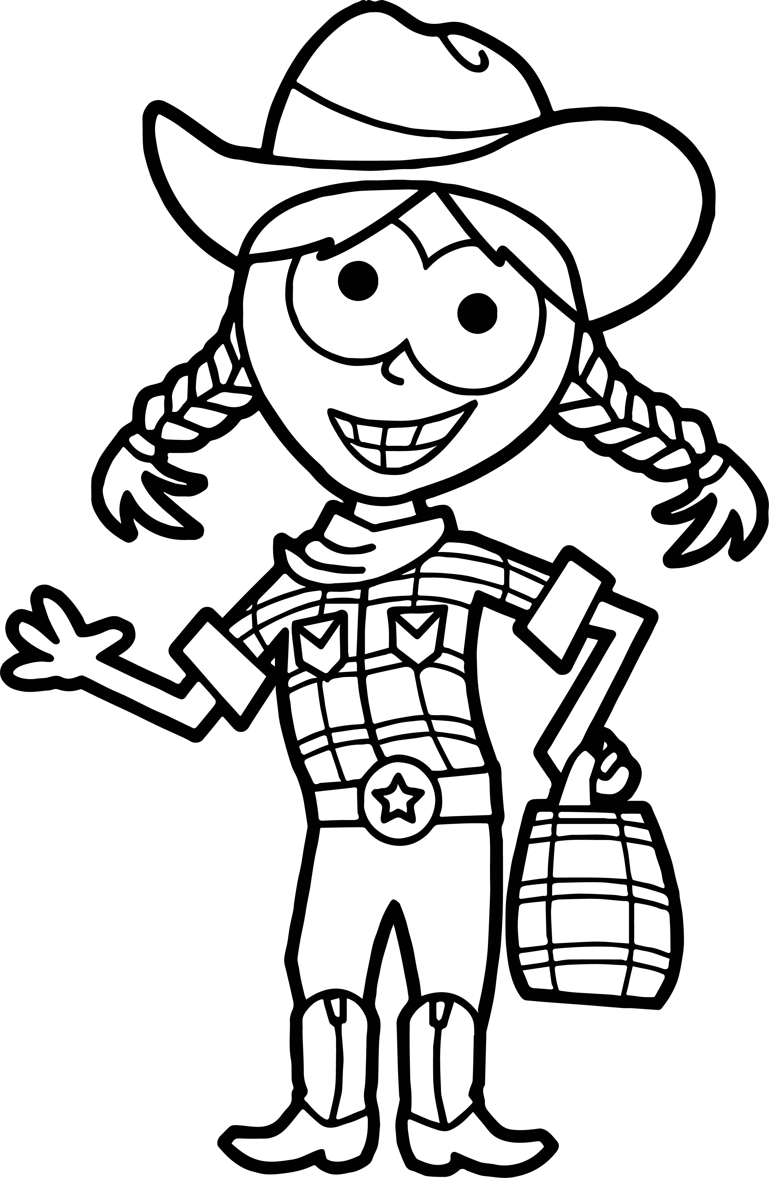 Home Free Halloween Trick Or Treat Cow Girl Free Coloring
