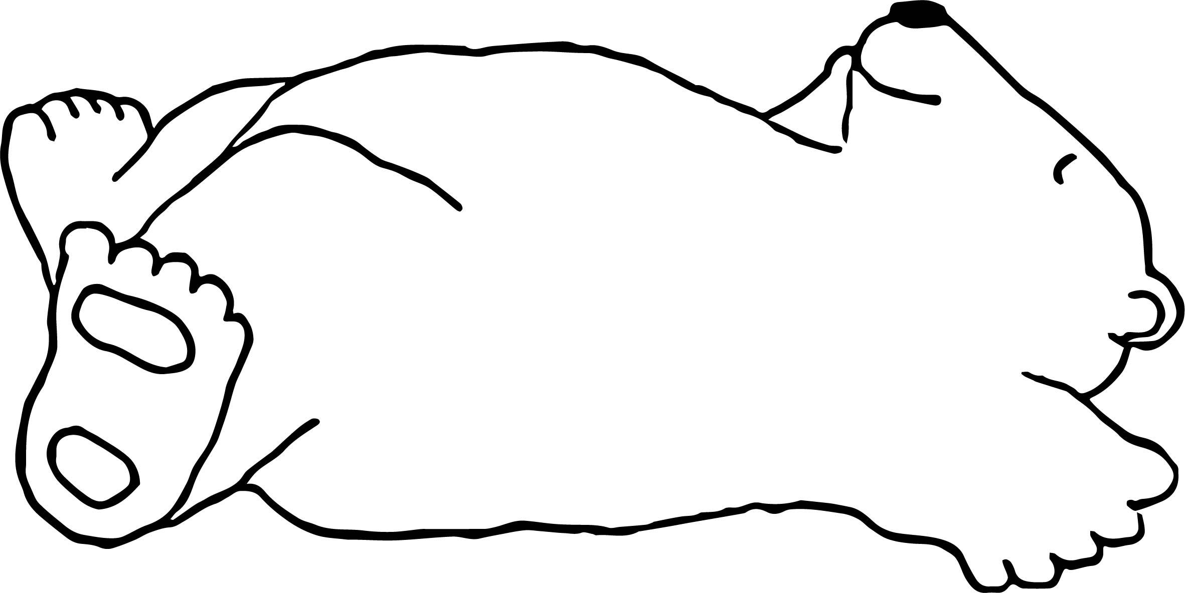 Light Bear Sleeping Coloring Page