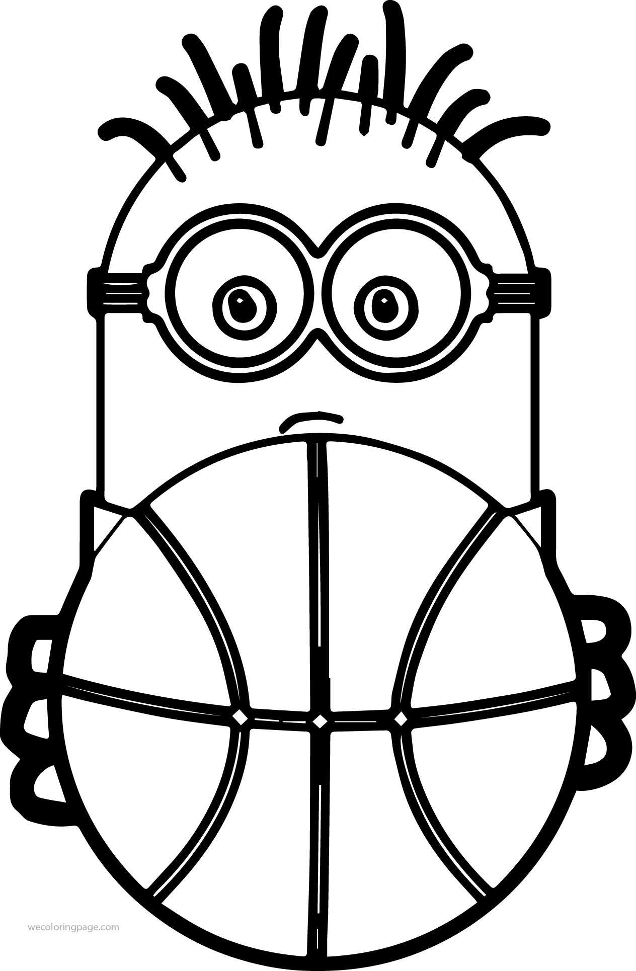 aedb88fc29 Minion Playing Basketball And Ball Coloring Page - Auto Electrical ...