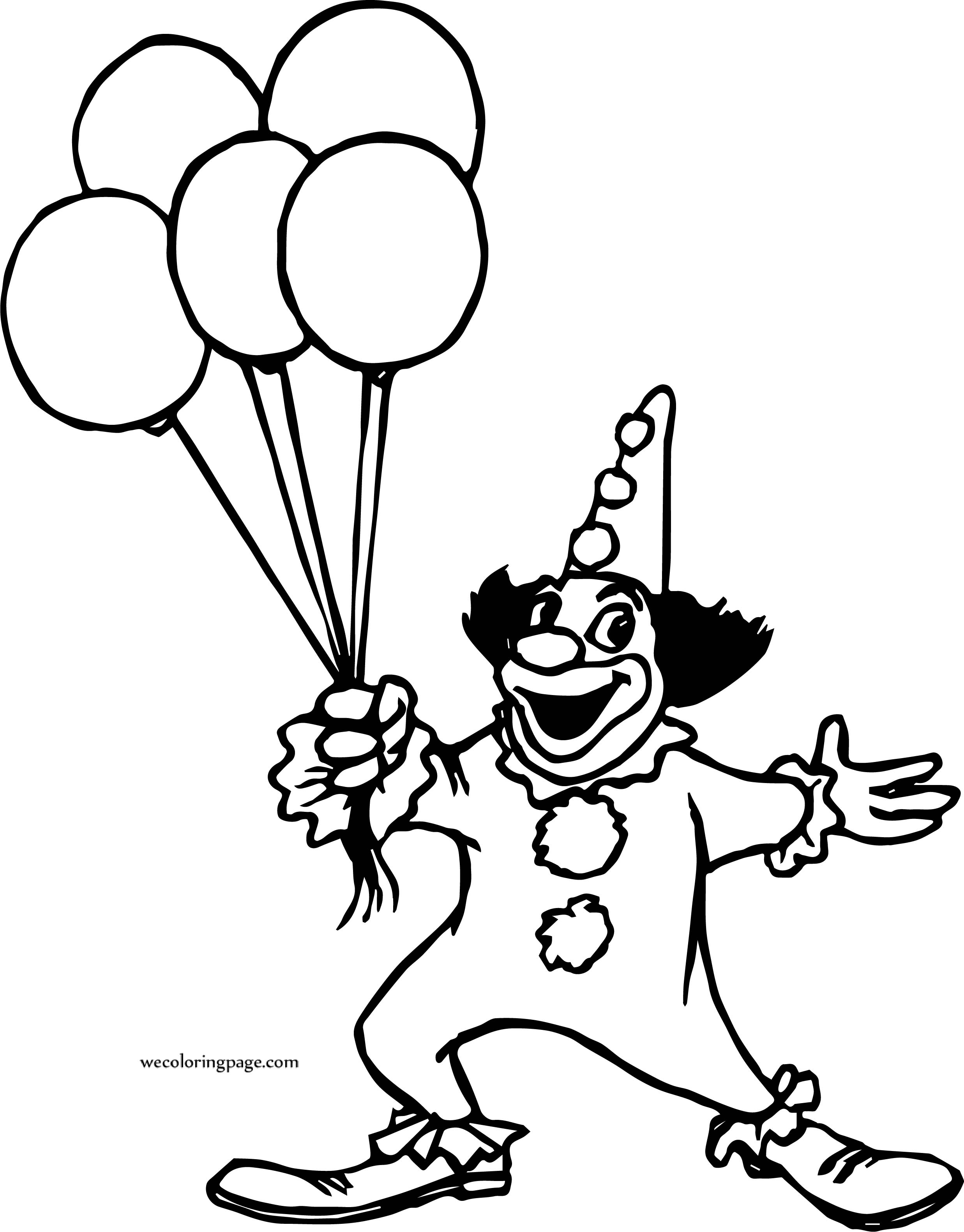 Horse With Balloons Coloring Page | Bouquet Daughter Flowers ...