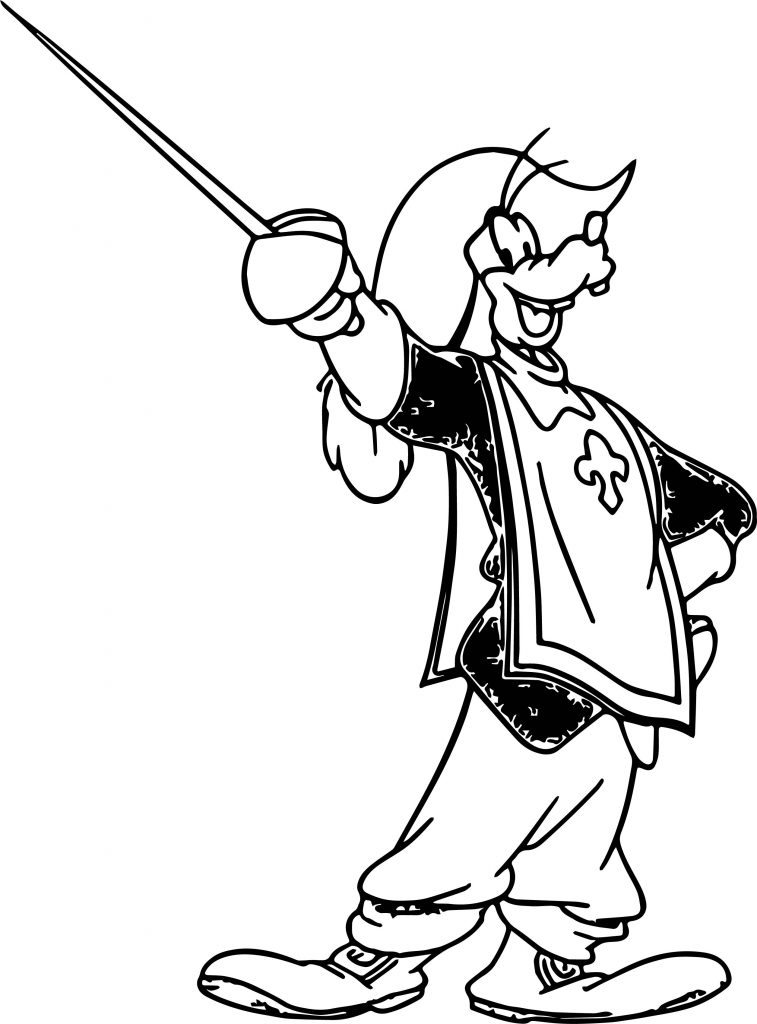 Disney The Three Musketeers Goofy Coloring Pages