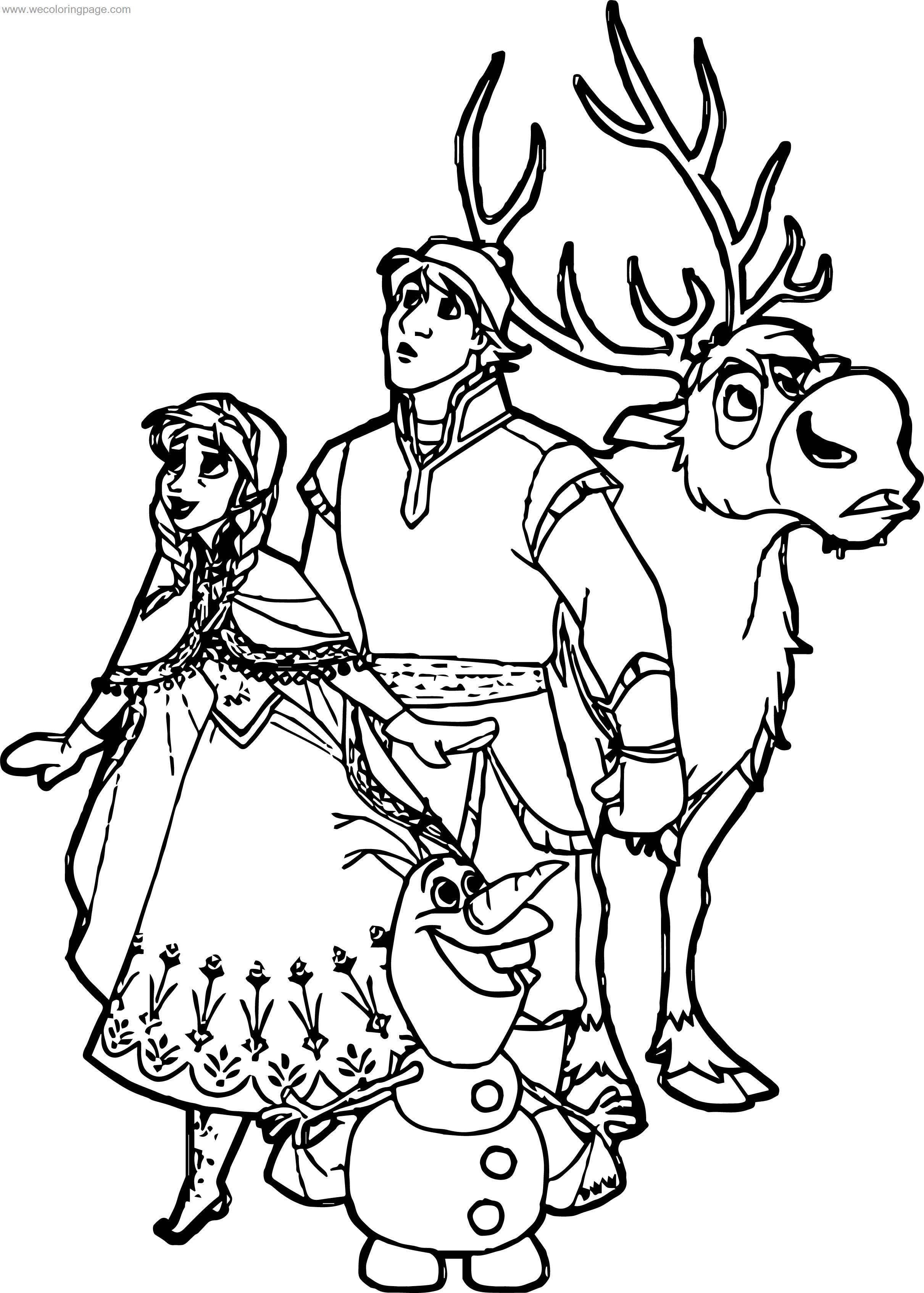 Kristoff Frozen Coloring Pages - Free Coloring Page