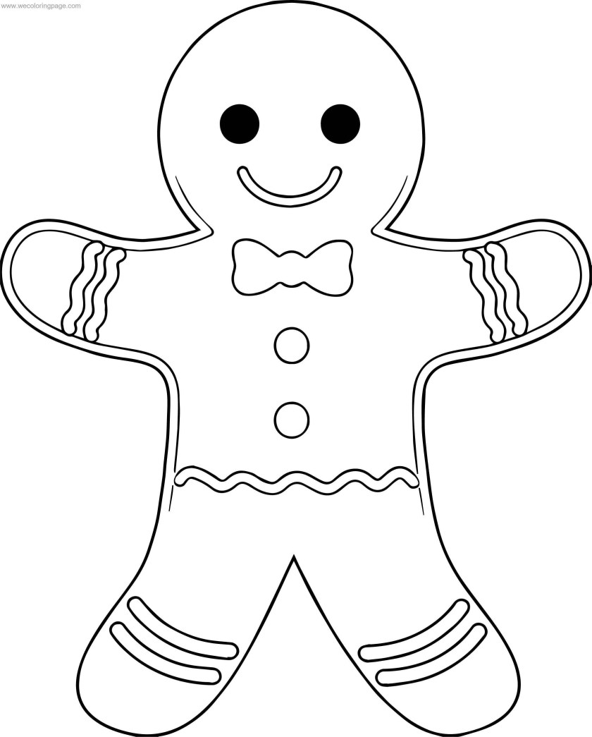 cookie gingerbread outline house coloring page