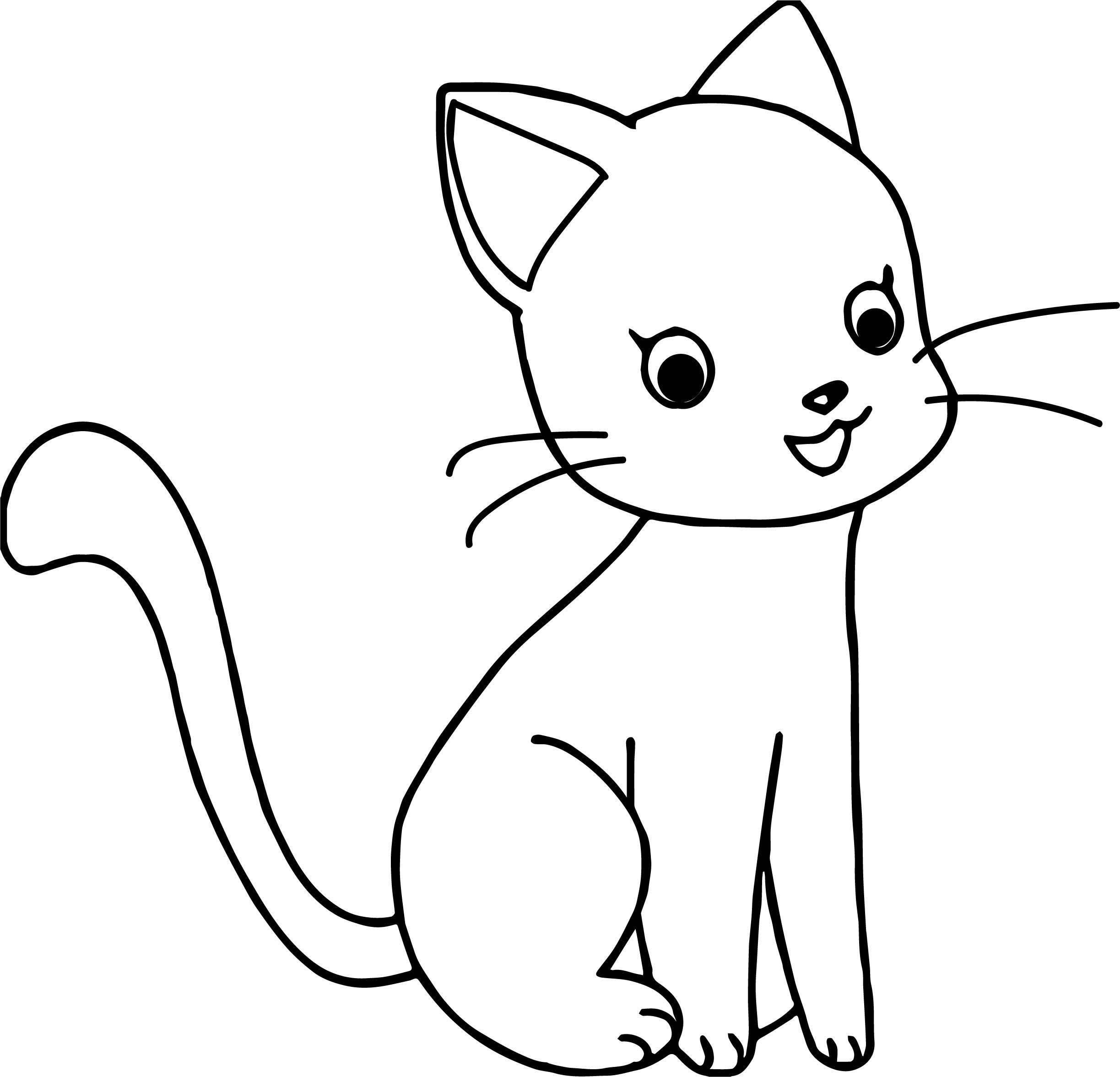 Number Cat Coloring Page