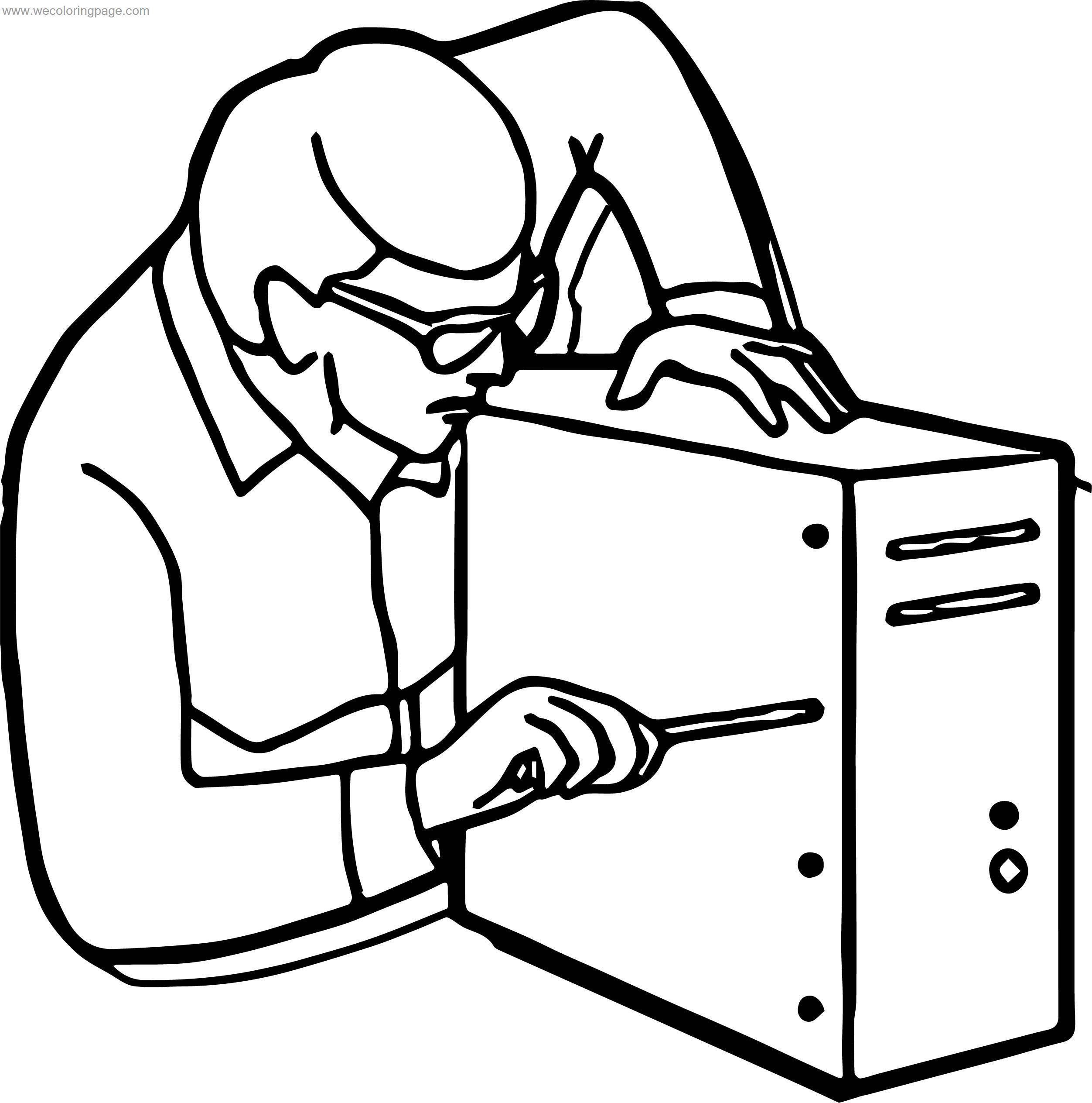 Furnace Repair Man Page Coloring Pages