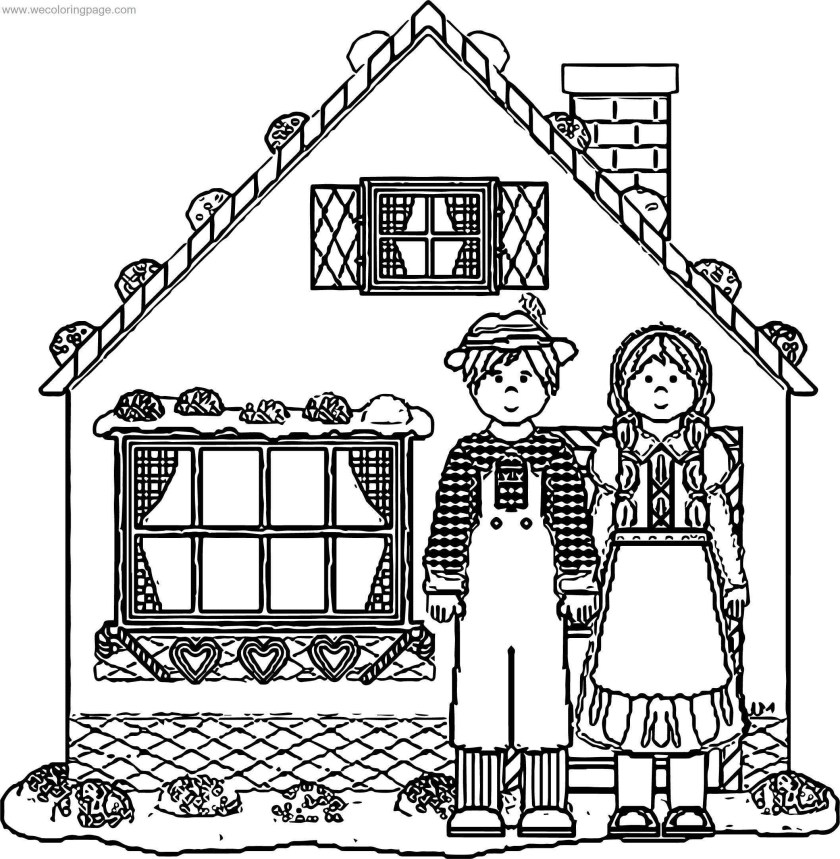 story book house hansel gretel gingerbread house coloring
