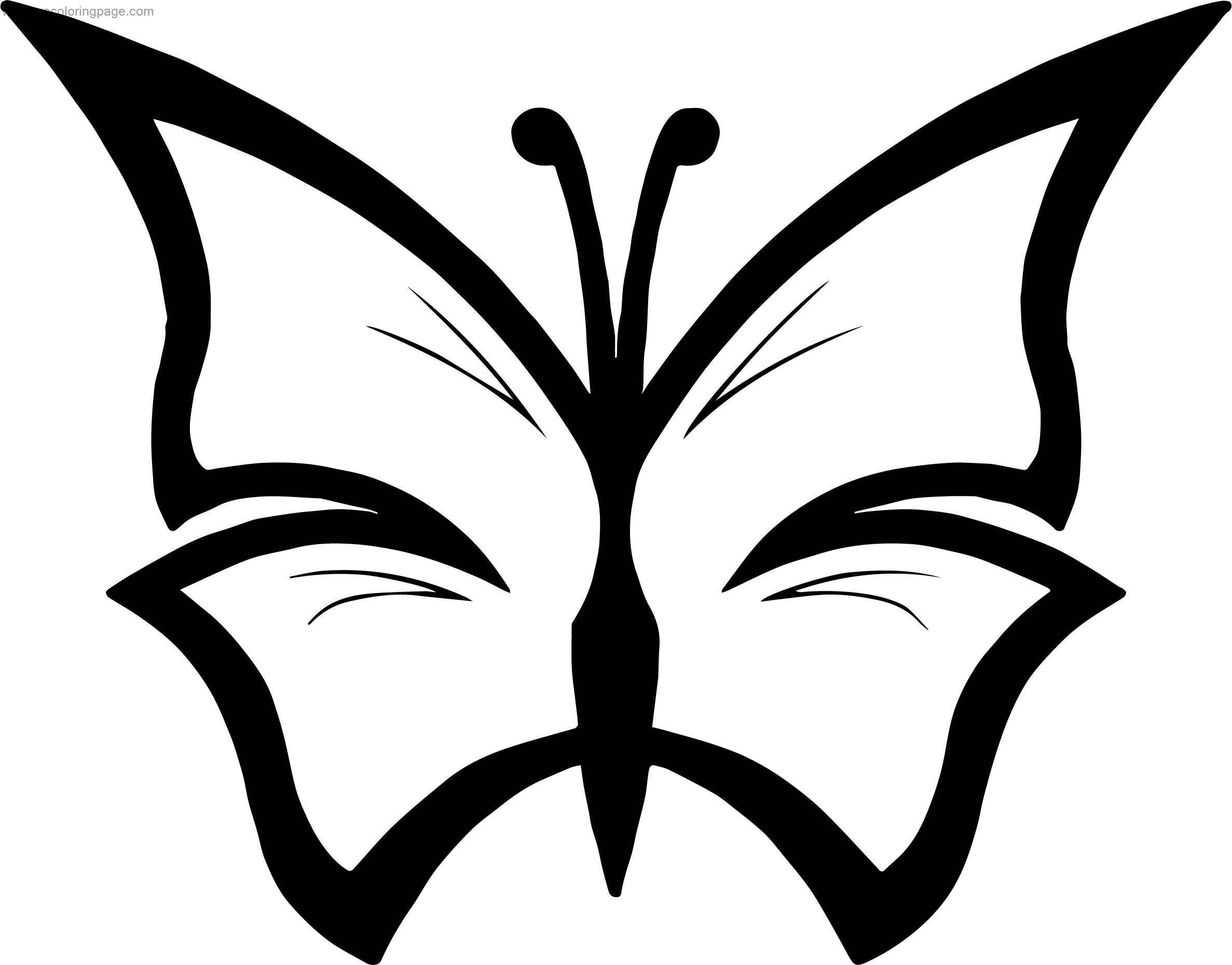 Constraint Clipart Butterfly Coloring Page