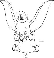 Dumbo Fall Coloring Page   Wecoloringpage.com