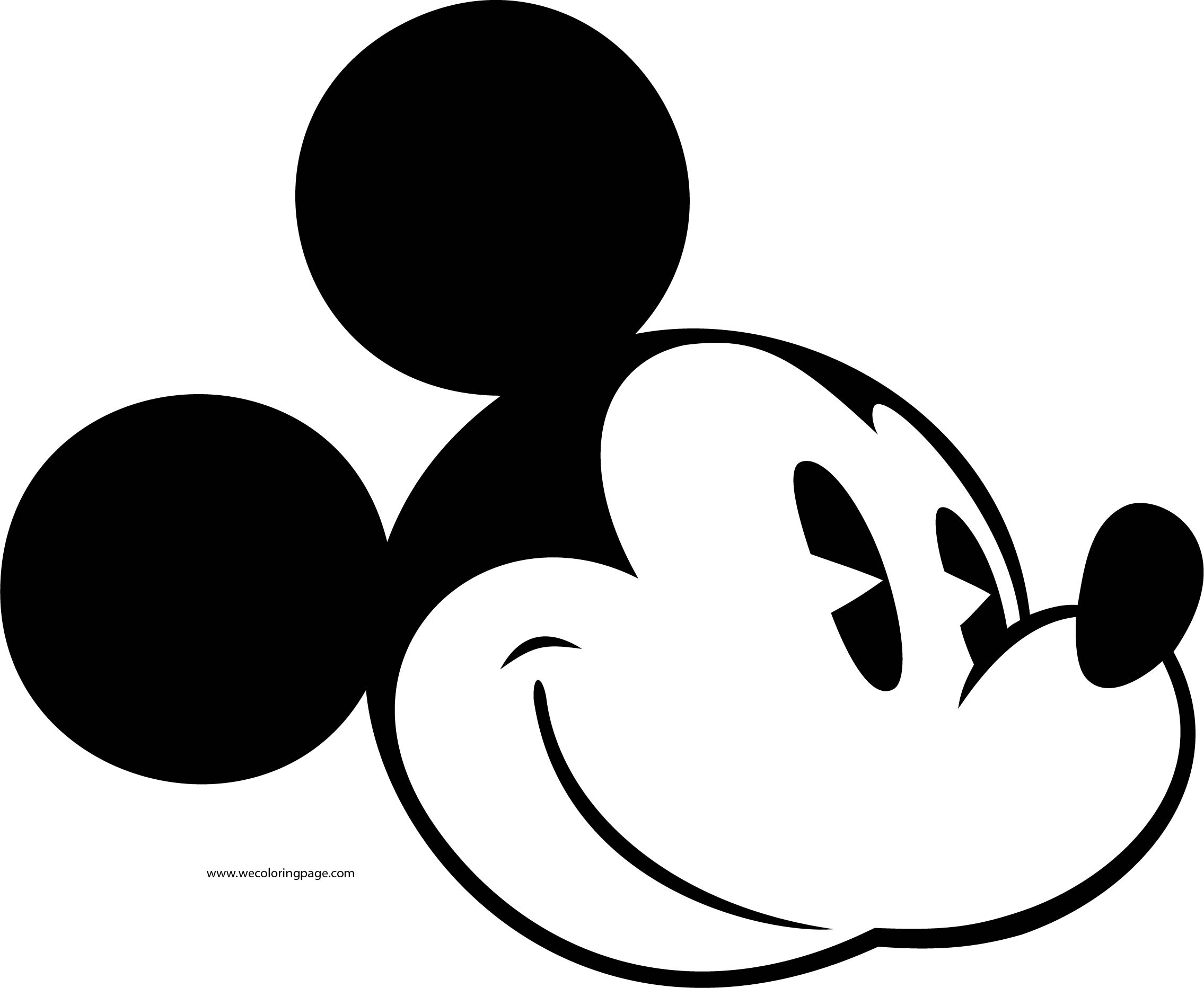 Old Mickey Mouse Face Coloring Page 8