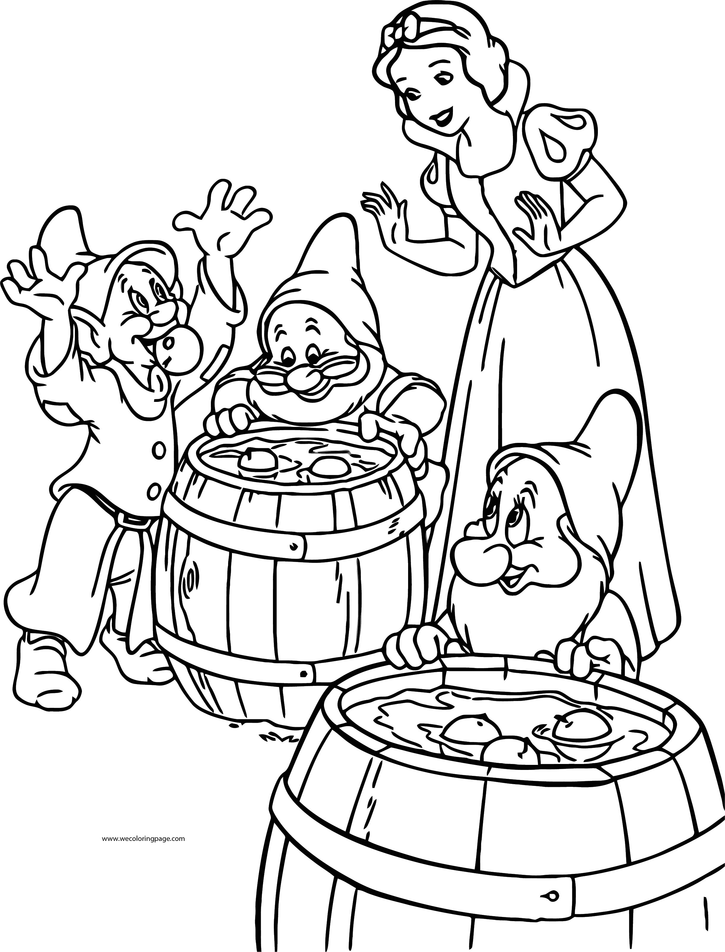 Snow White The Seven Dwarfs Coloring Page 24