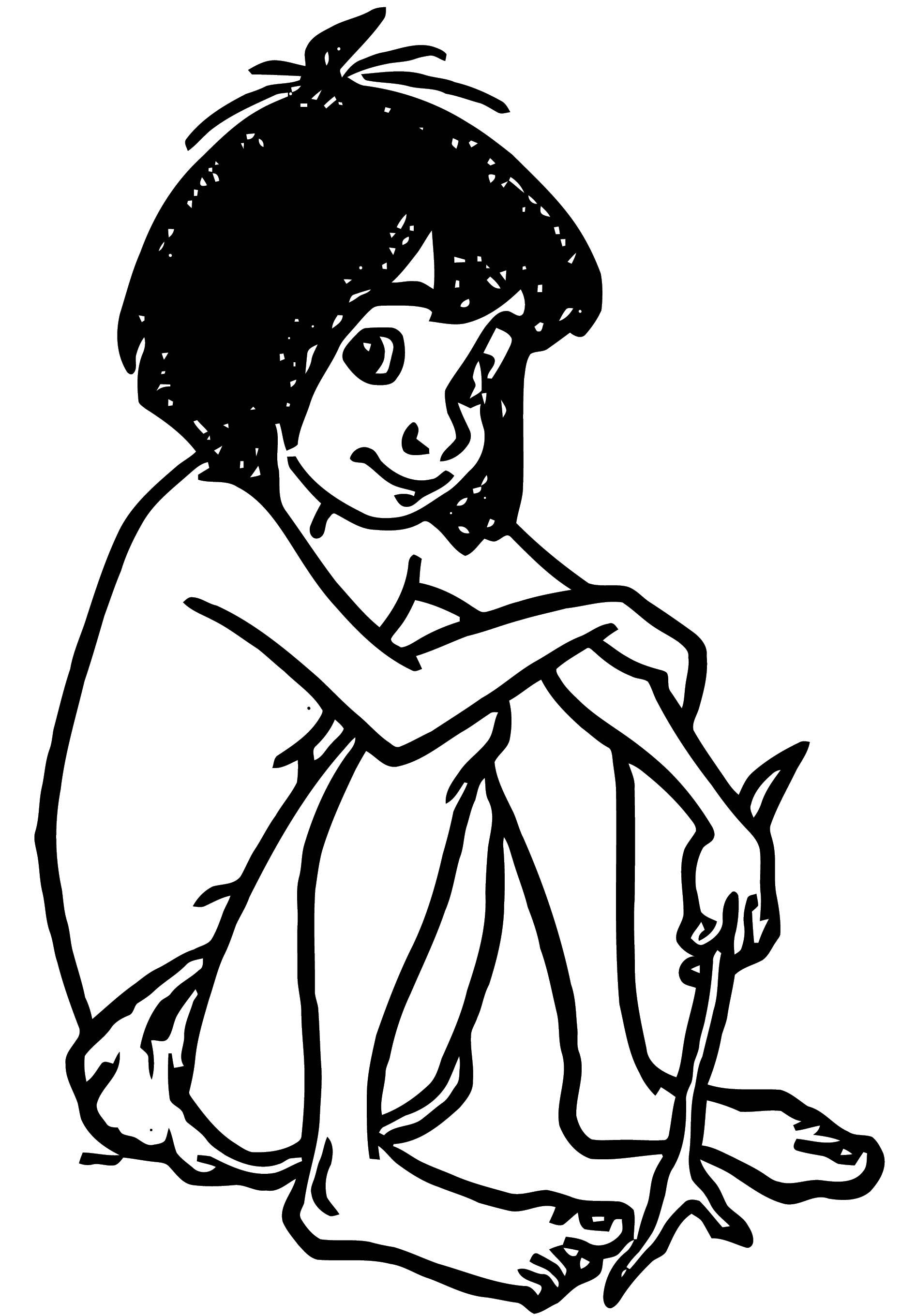 Mowgli The Jungle Book Coloring Page