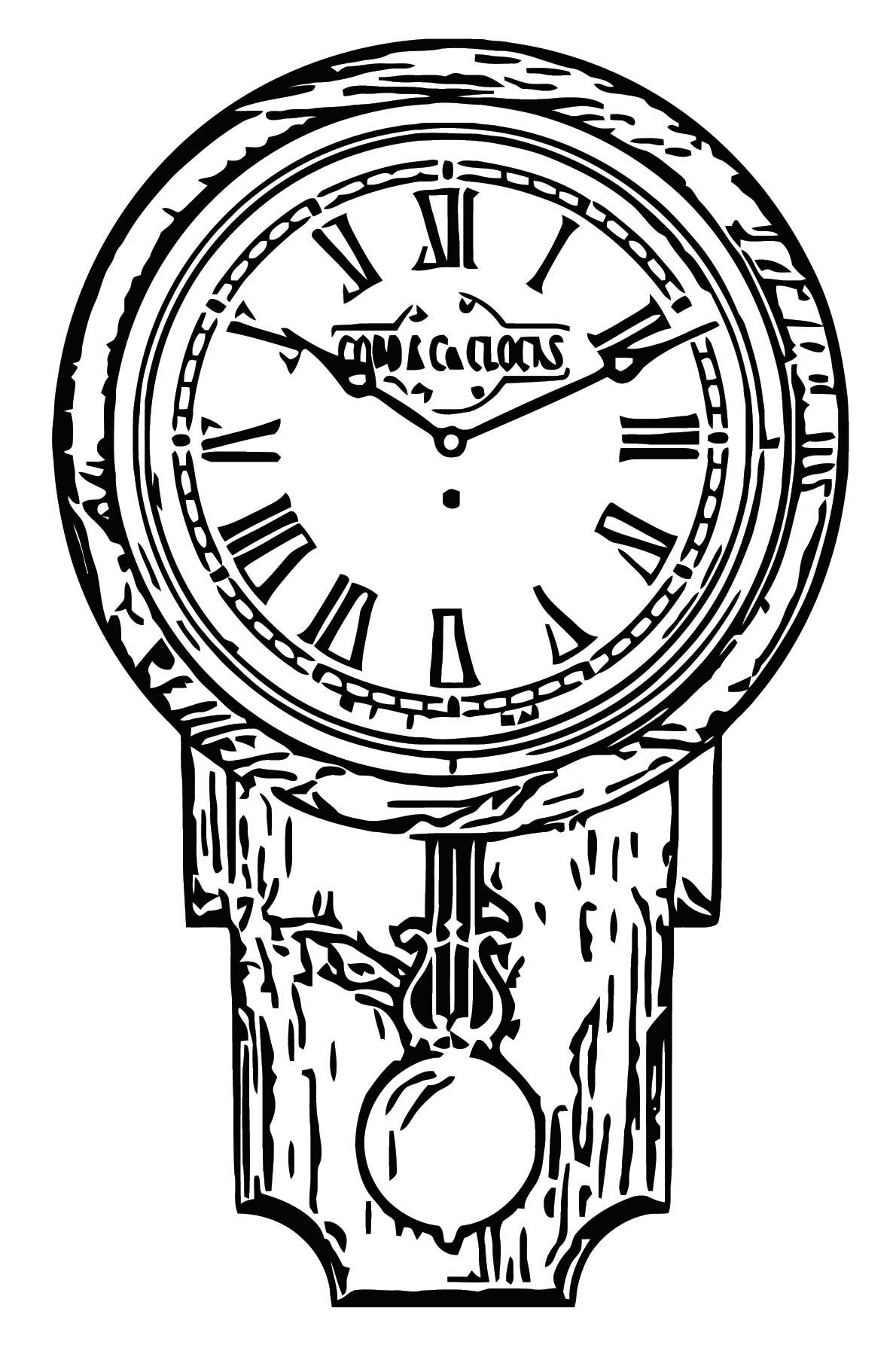 Large Pendulum Clock Roman Numerals Golden Oak Free