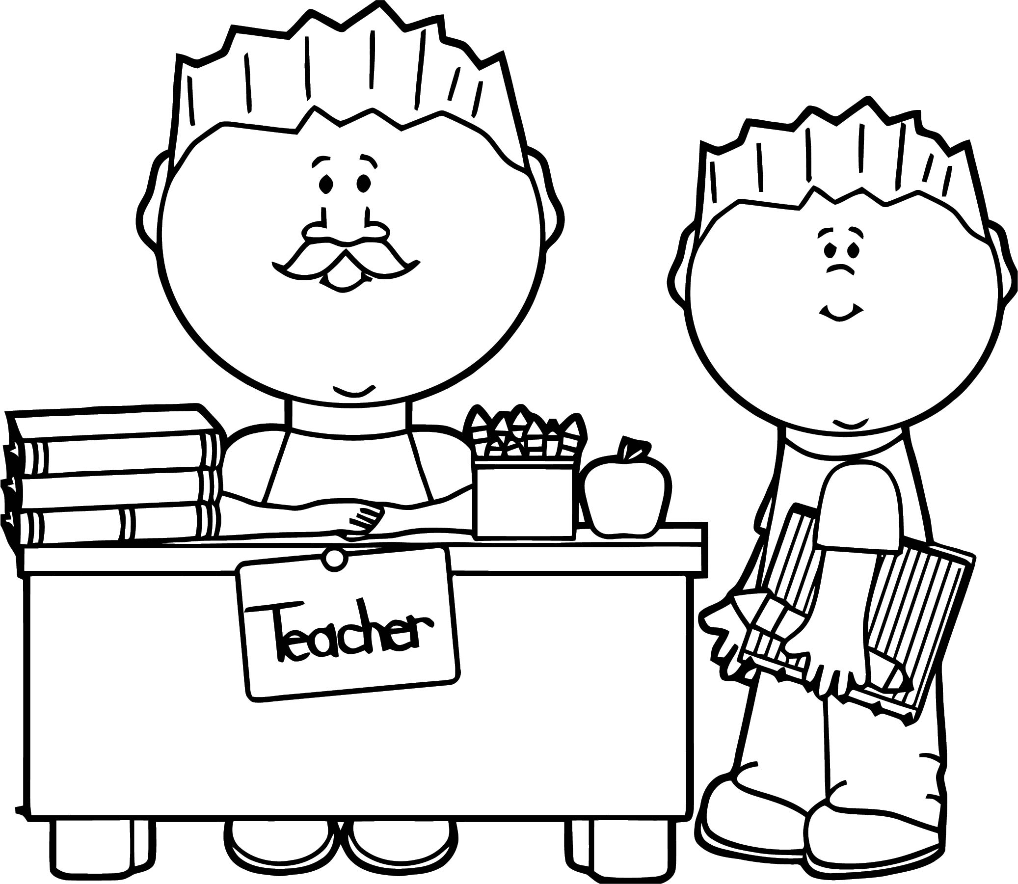 English Teacher We Coloring Page 093