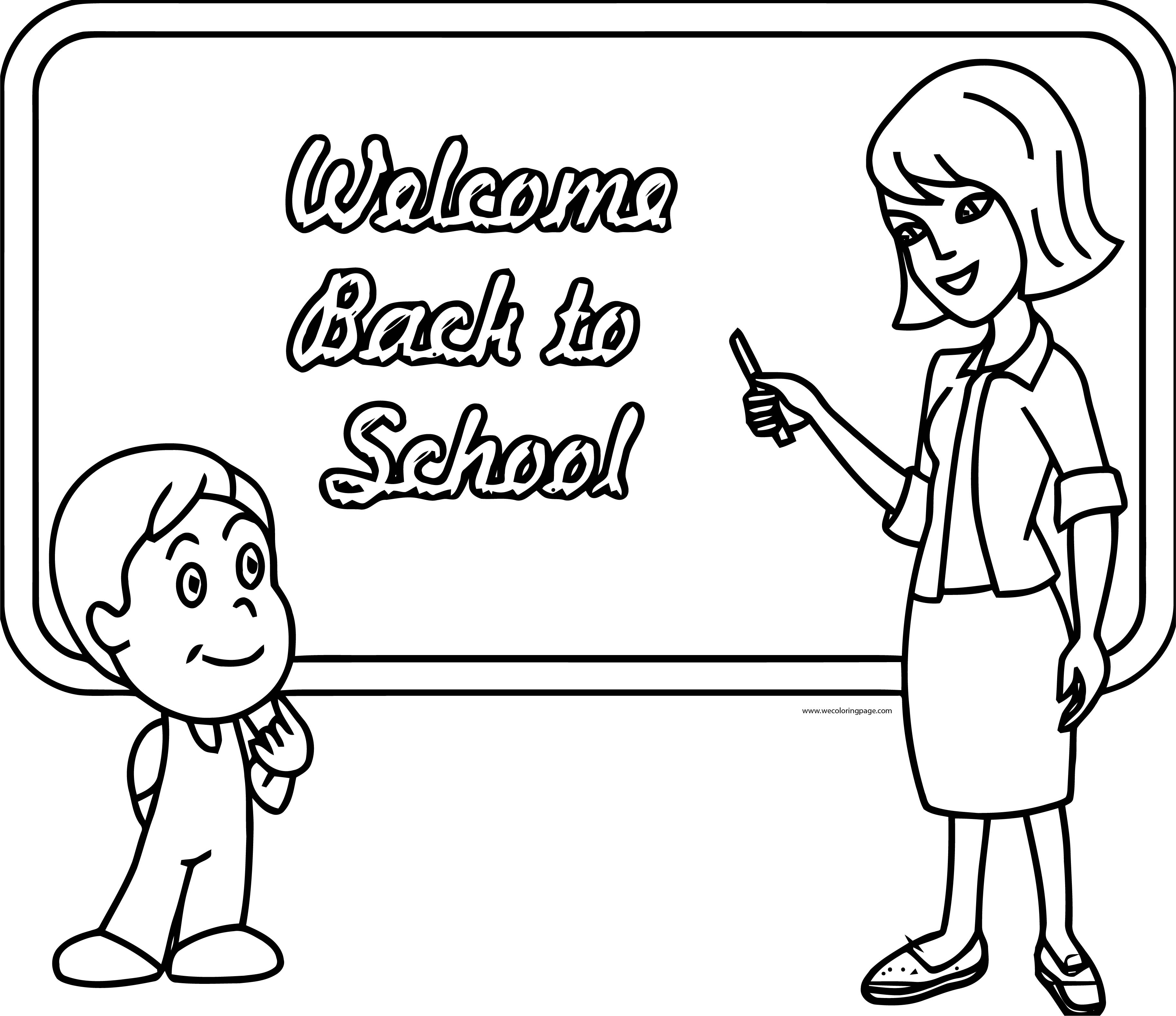 English Teacher Welcome Back To School Coloring Page