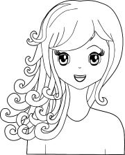 manga swirl hair girl coloring