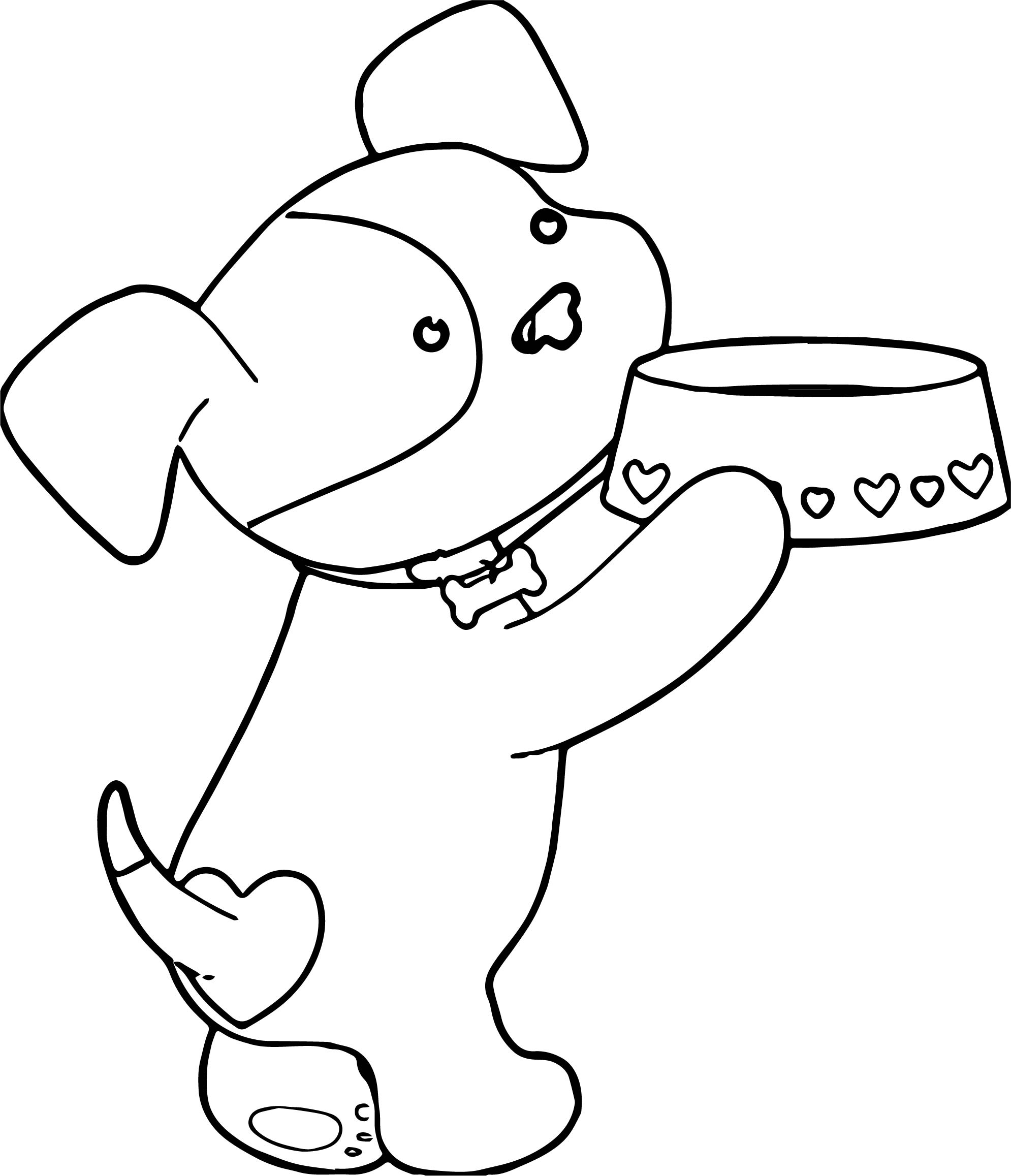 Puppy Dog Heart Food Please Coloring Page