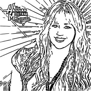 hannah montana coloring pages # 29