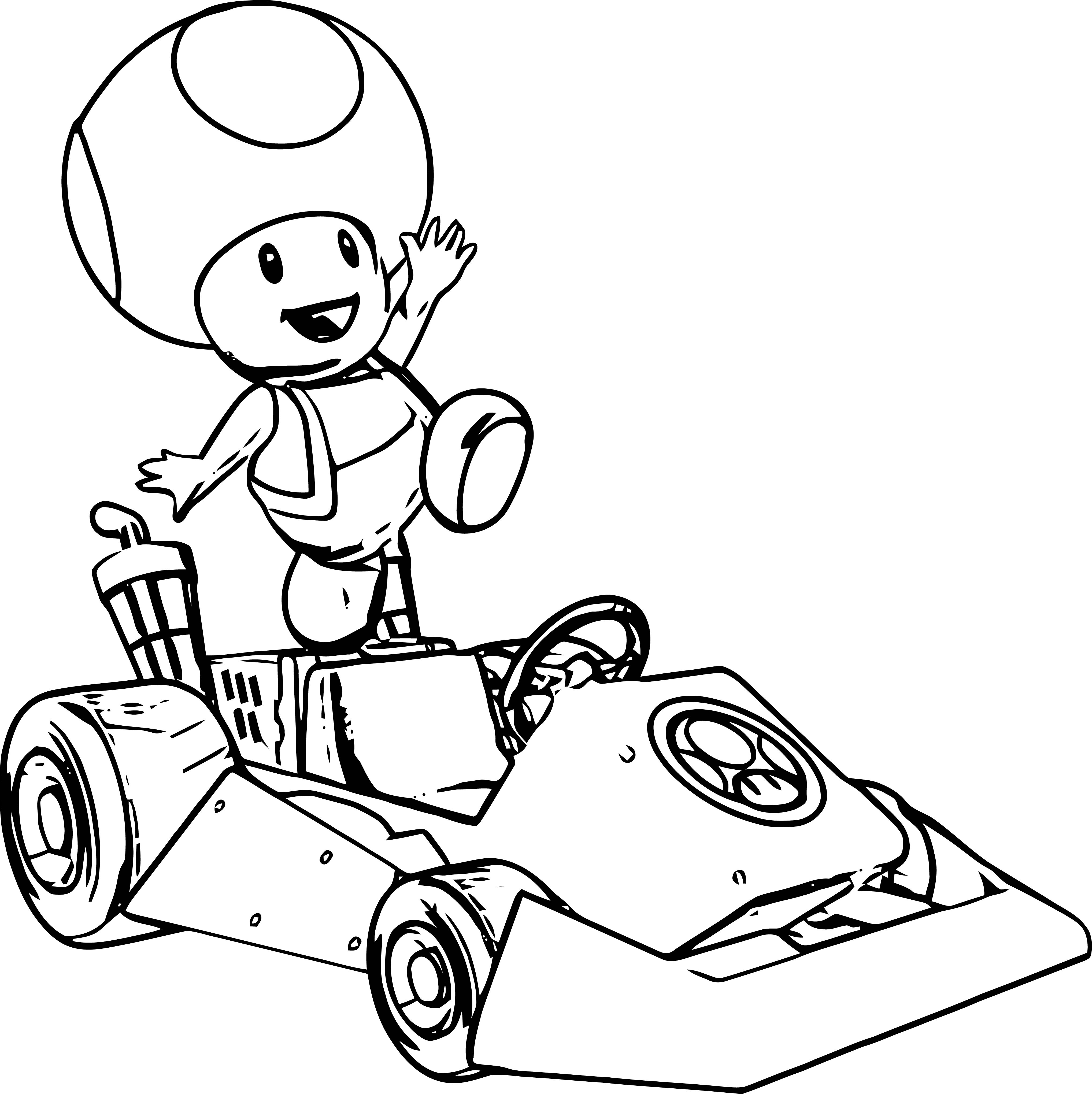 Toad Car Coloring Page