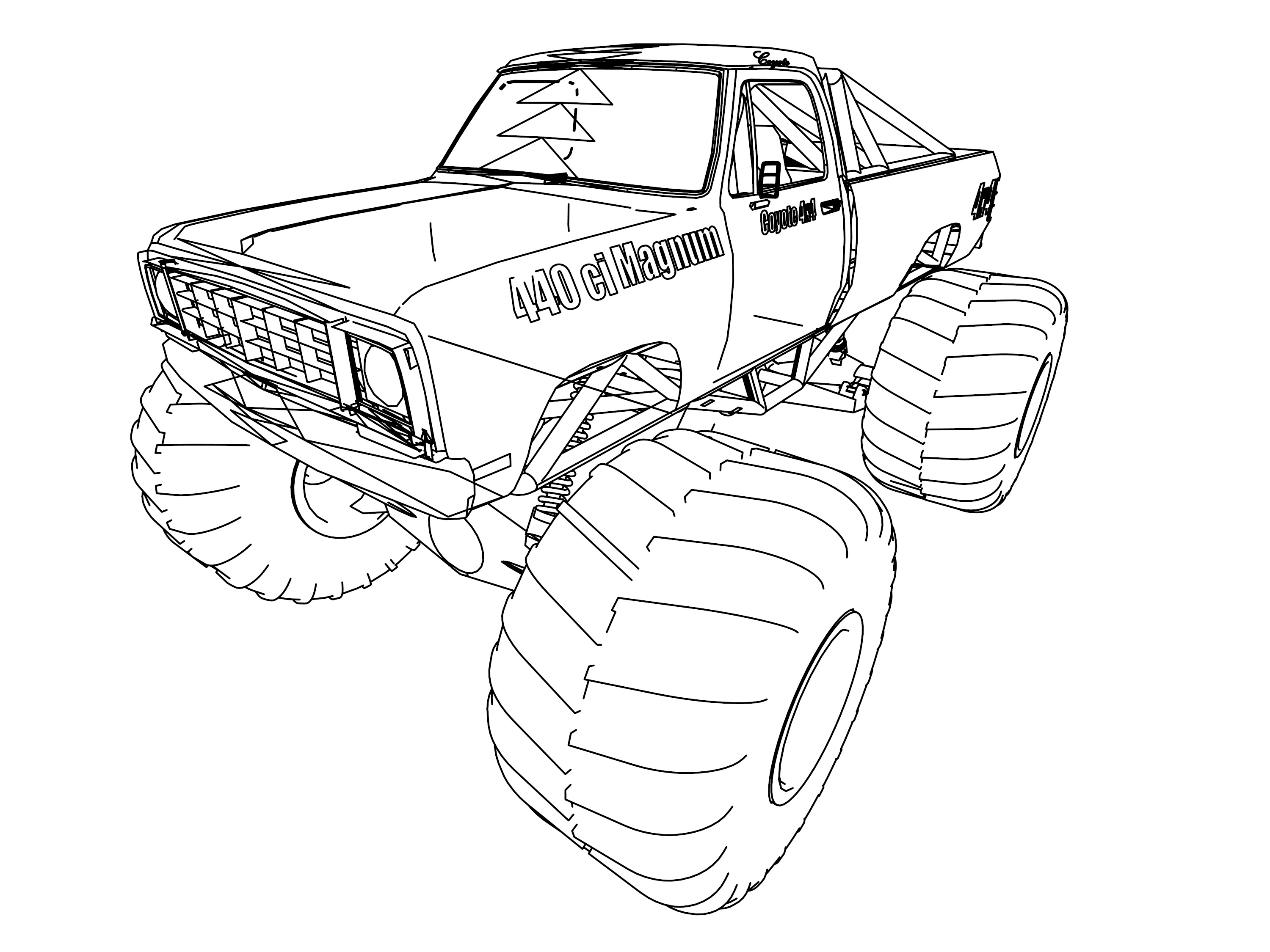 Dodge 4 4 Coloring Page