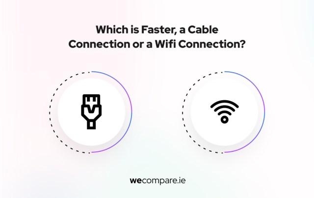 Wired versus wireless connection